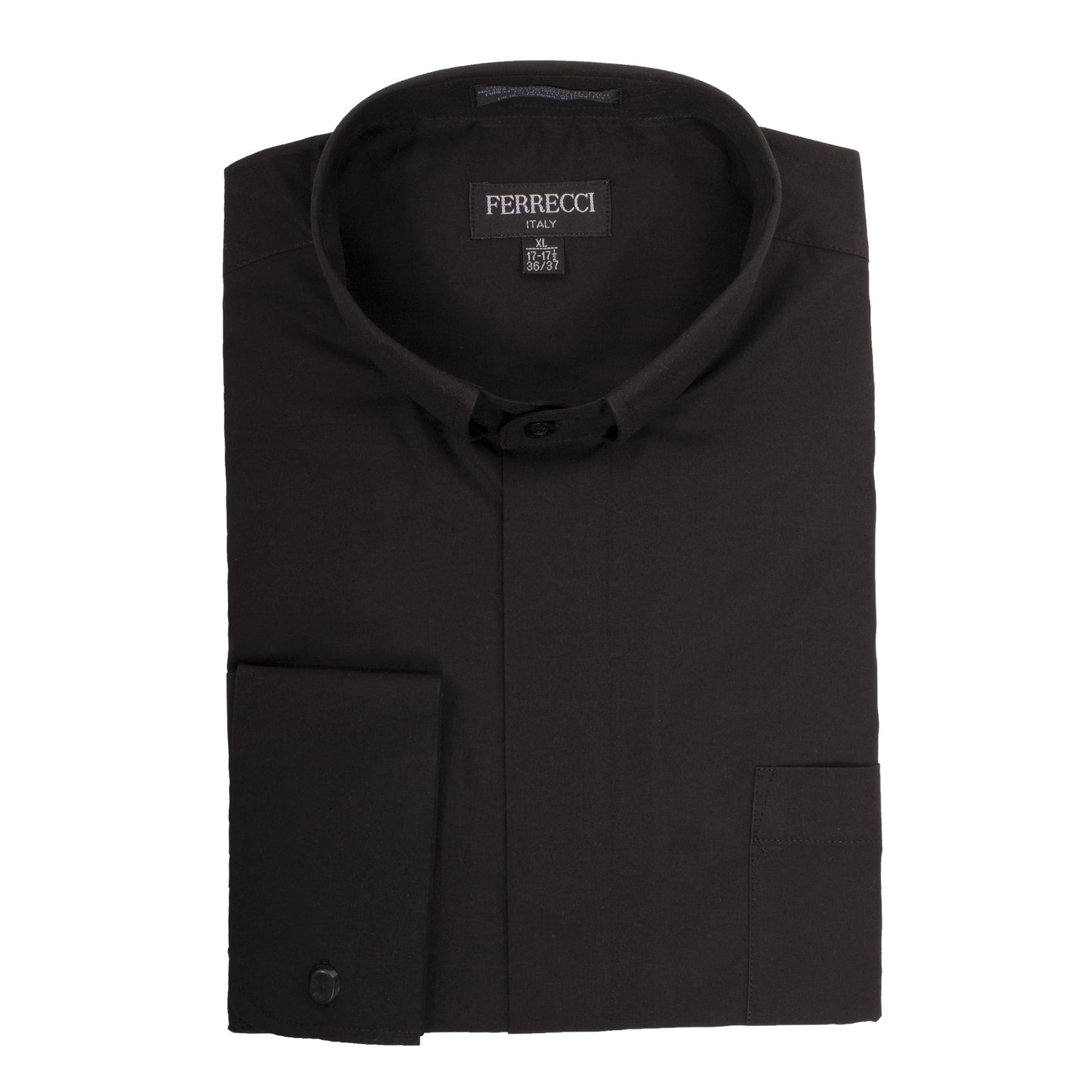 Shop Black Clergy Bishop Deacon Priest Mandarin Banded Collar Dress