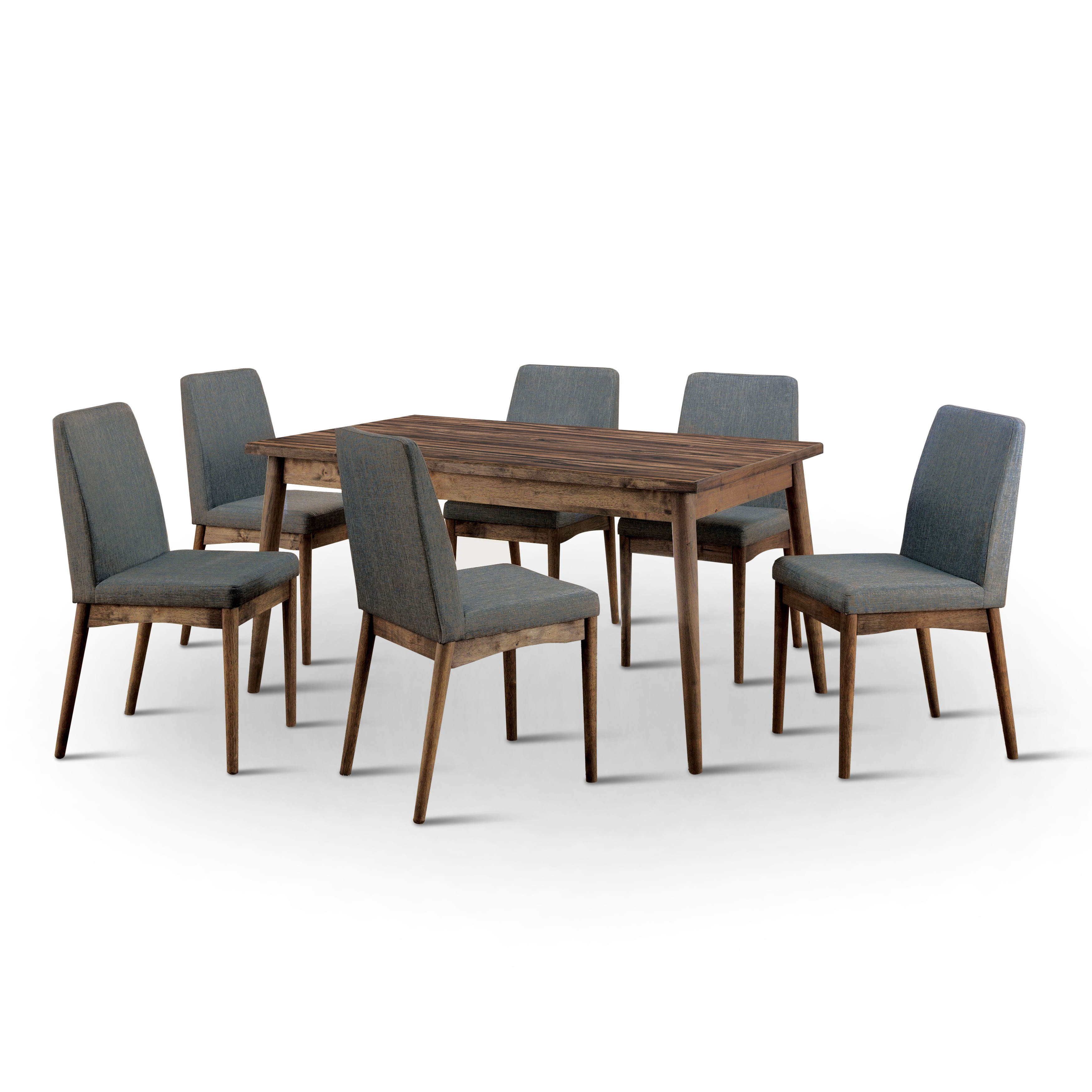 Shop Furniture Of America Reynorth Mid Century Modern 7 Piece Natural Tone Dining  Set   Free Shipping Today   Overstock.com   13999049