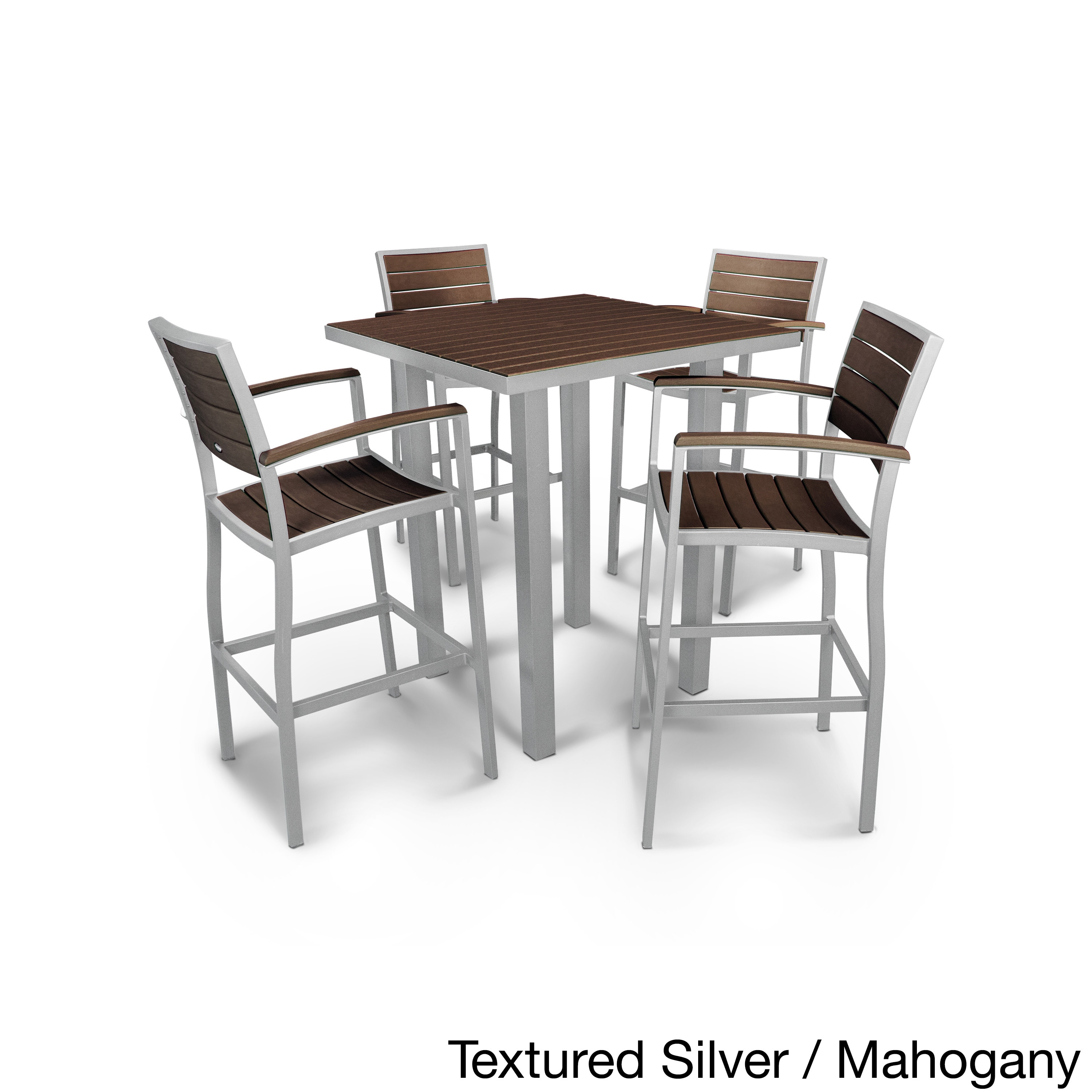 Shop Euro Polywood 5 Piece Bar Dining Set   Free Shipping Today    Overstock.com   13999116