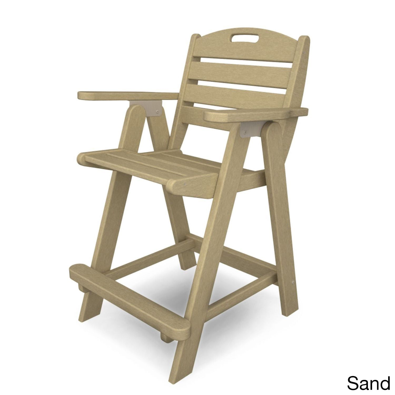 Superior POLYWOOD Nautical Counter Chair   Free Shipping Today   Overstock   20622430