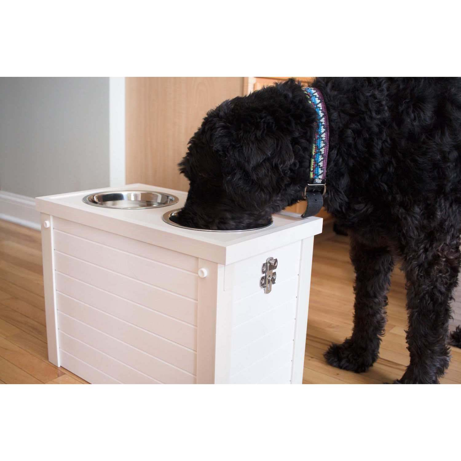 Shop EcoFlex Raised Dog Diner With Storage   Free Shipping Today    Overstock.com   14000126