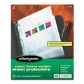 Wilson Jones Top-Loading Super Heavy Sheet Protectors Nonglare Finish Letter 50/Box