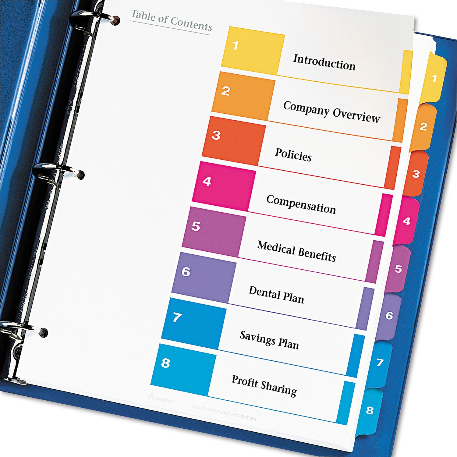 Shop Avery Ready Index Customizable Table Of Contents Assorted