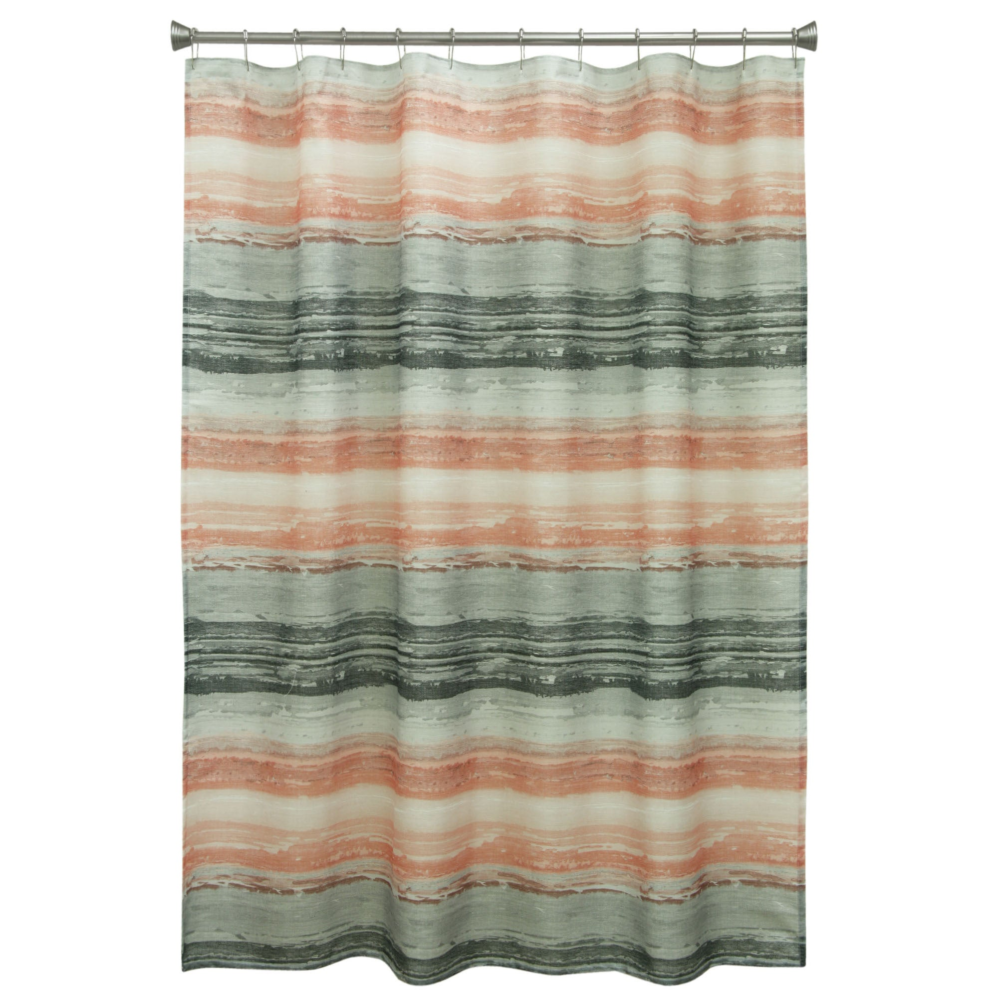 Portico Coral Fabric Shower Curtain - Free Shipping On Orders Over ...