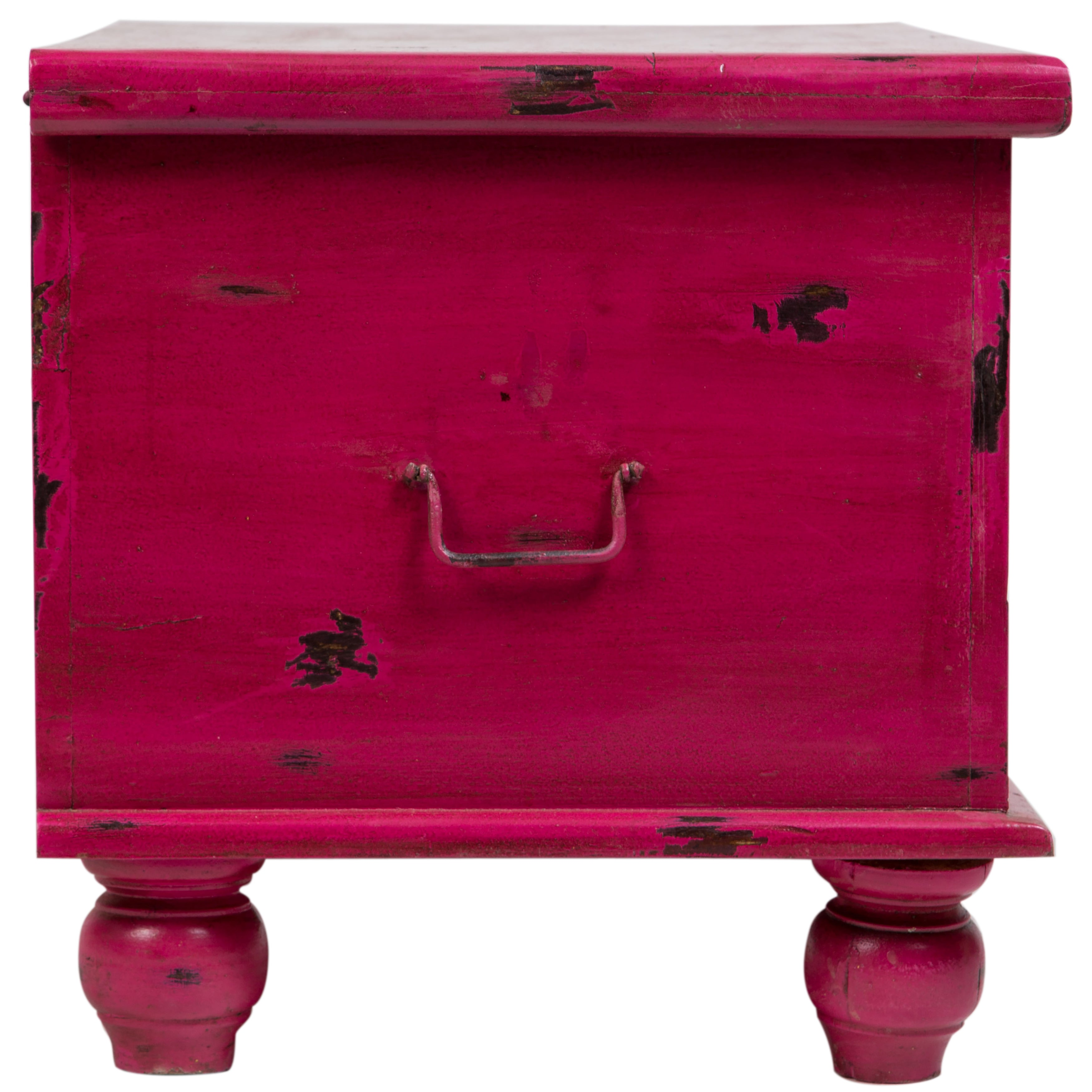 Handmade Wanderloot Leela Distressed Hot Pink Hand Carved Medallion Coffee Table Trunk India Free Shipping Today 14004610