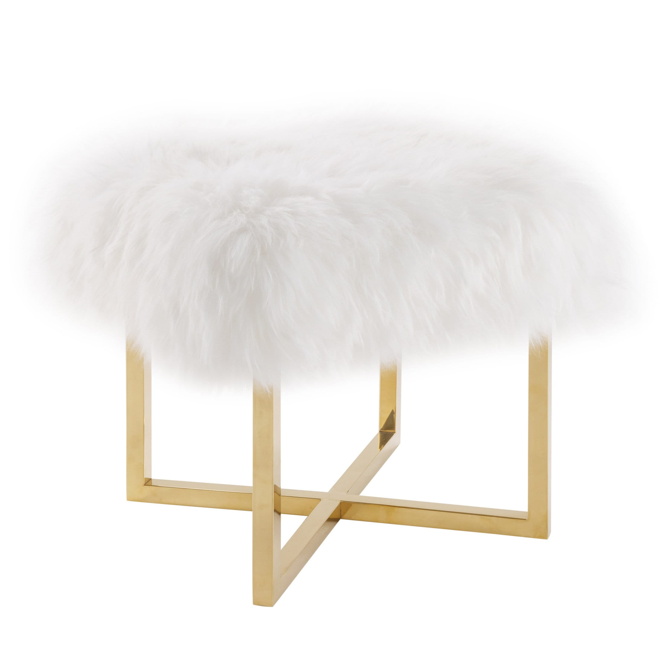 luxe image bench white sheepskin product