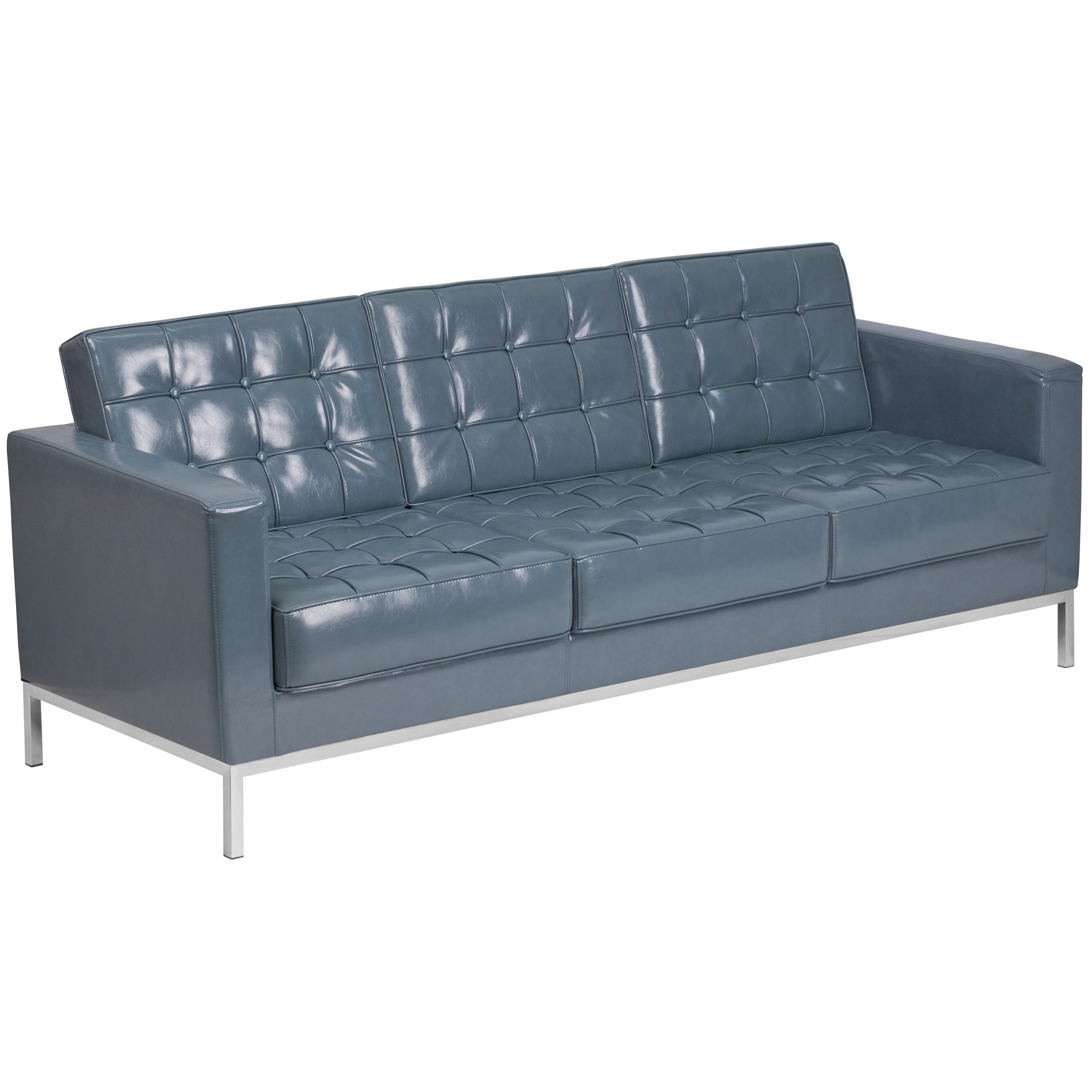 Clay Alder Home Ambador Contemporary Leather Sofa With Stainless Steel Frame Free Shipping Today 14012249