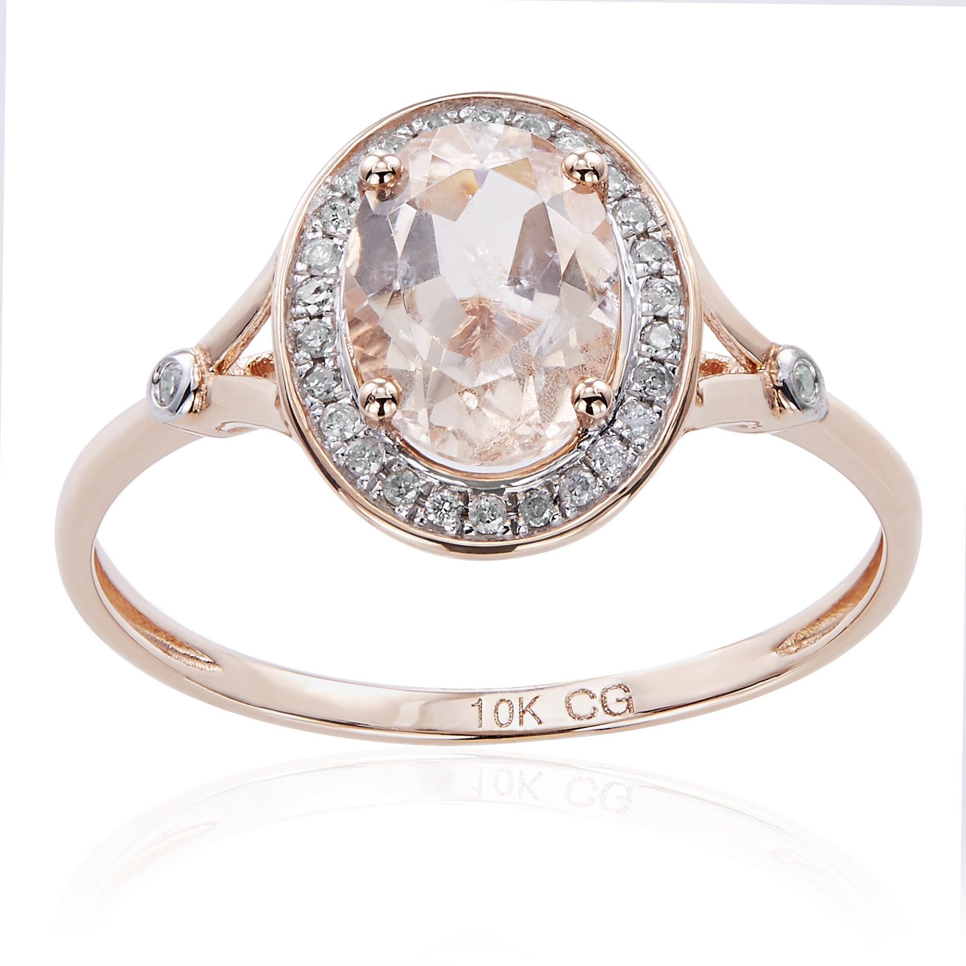 basket oval halo ring large engagement wedding morganite diamond rings watch with