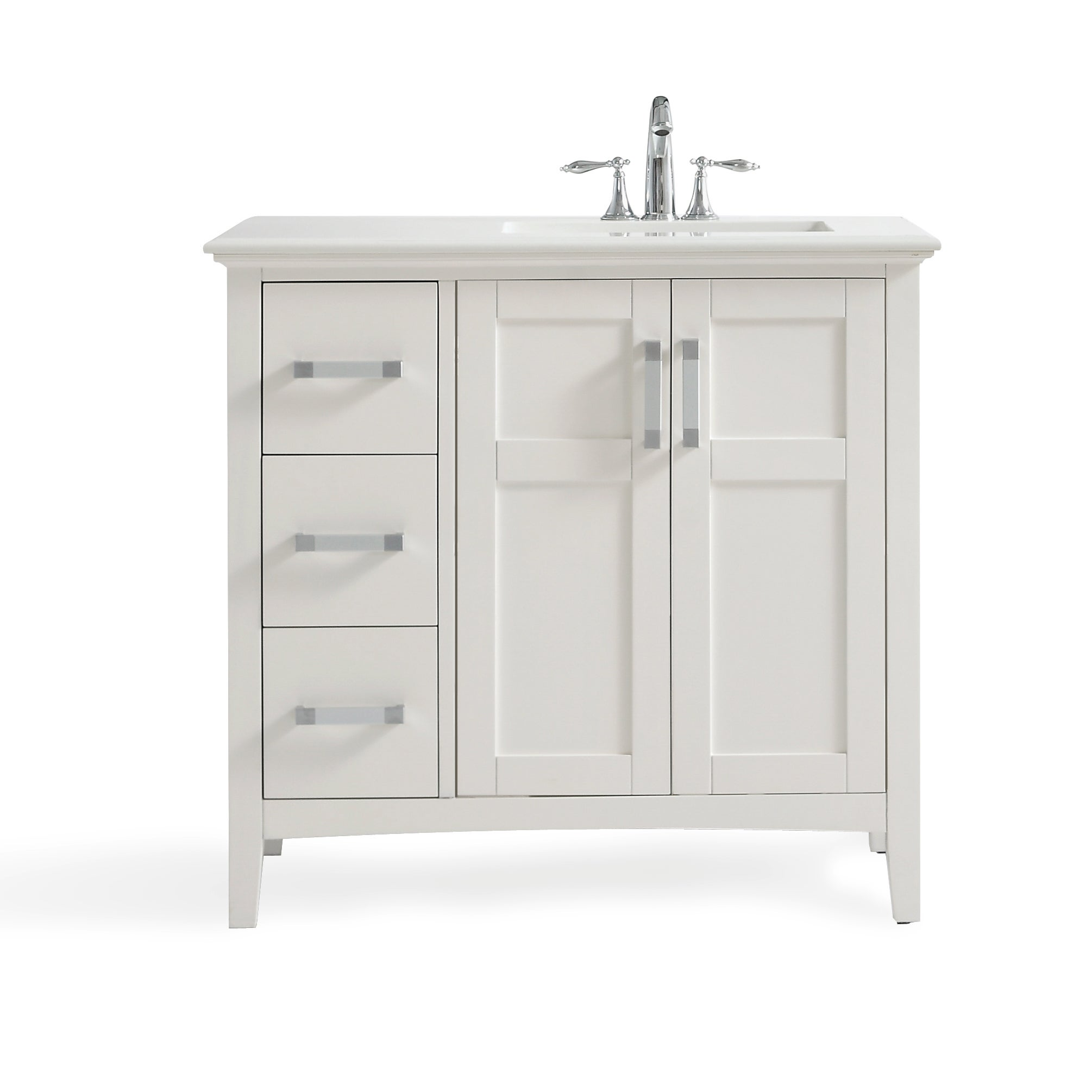 66 inch bathroom vanity. WYNDENHALL Salem 36-inch Left Offset Bath Vanity In White With Quartz Marble Top - Free Shipping Today Overstock 20649127 66 Inch Bathroom M