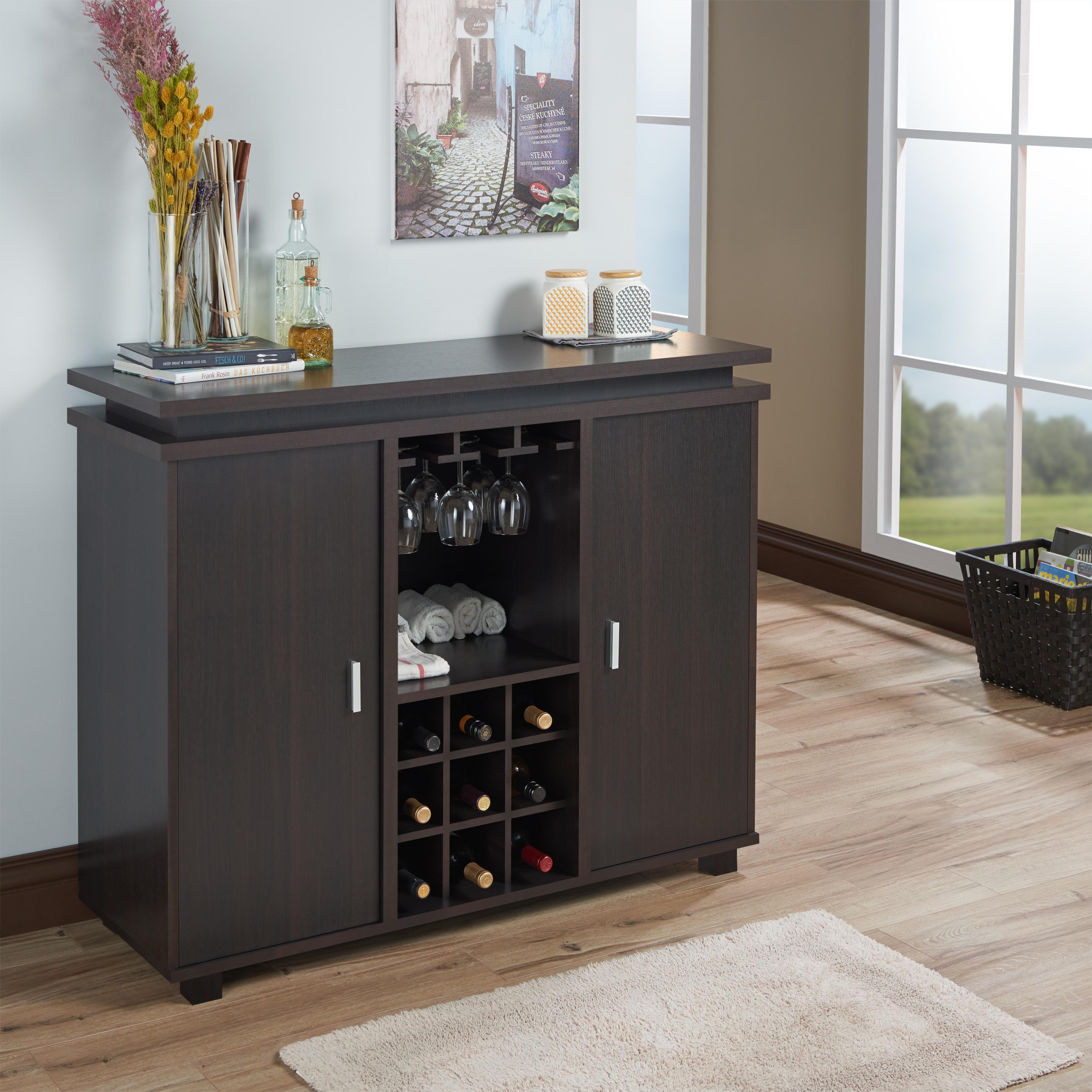 Furniture of America Mirande Contemporary Espresso Dining Buffet ...