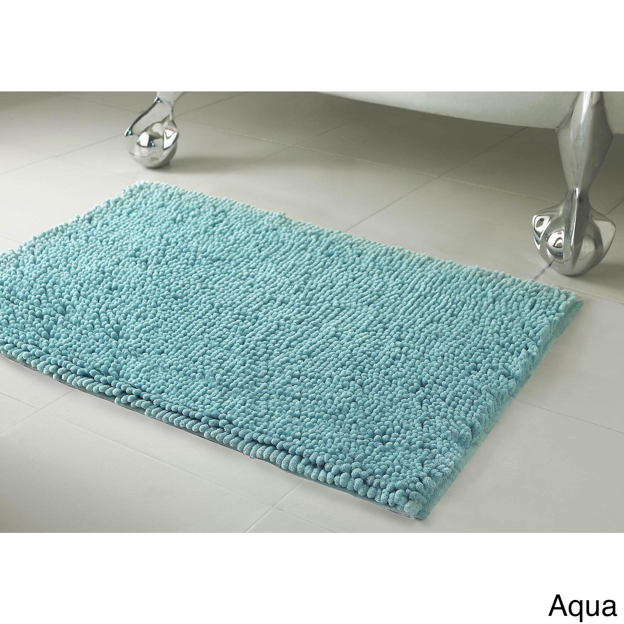 Shop Resort Collection Plush Shag Chenille Bath Mat (17 inches x 24 ...
