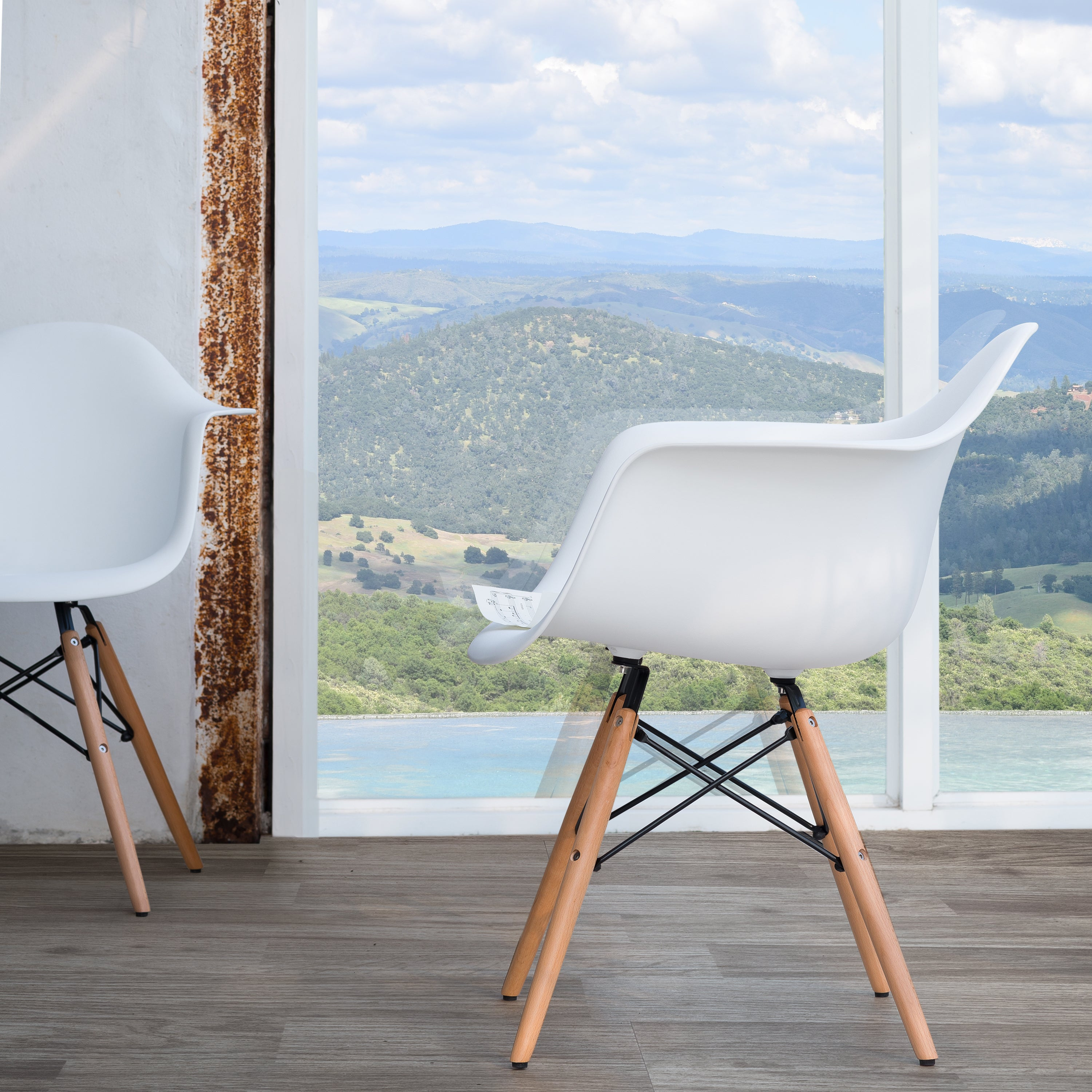 Shop Siena Modern Dining Chairs with Wood Legs by Corvus (Set of 2 ...
