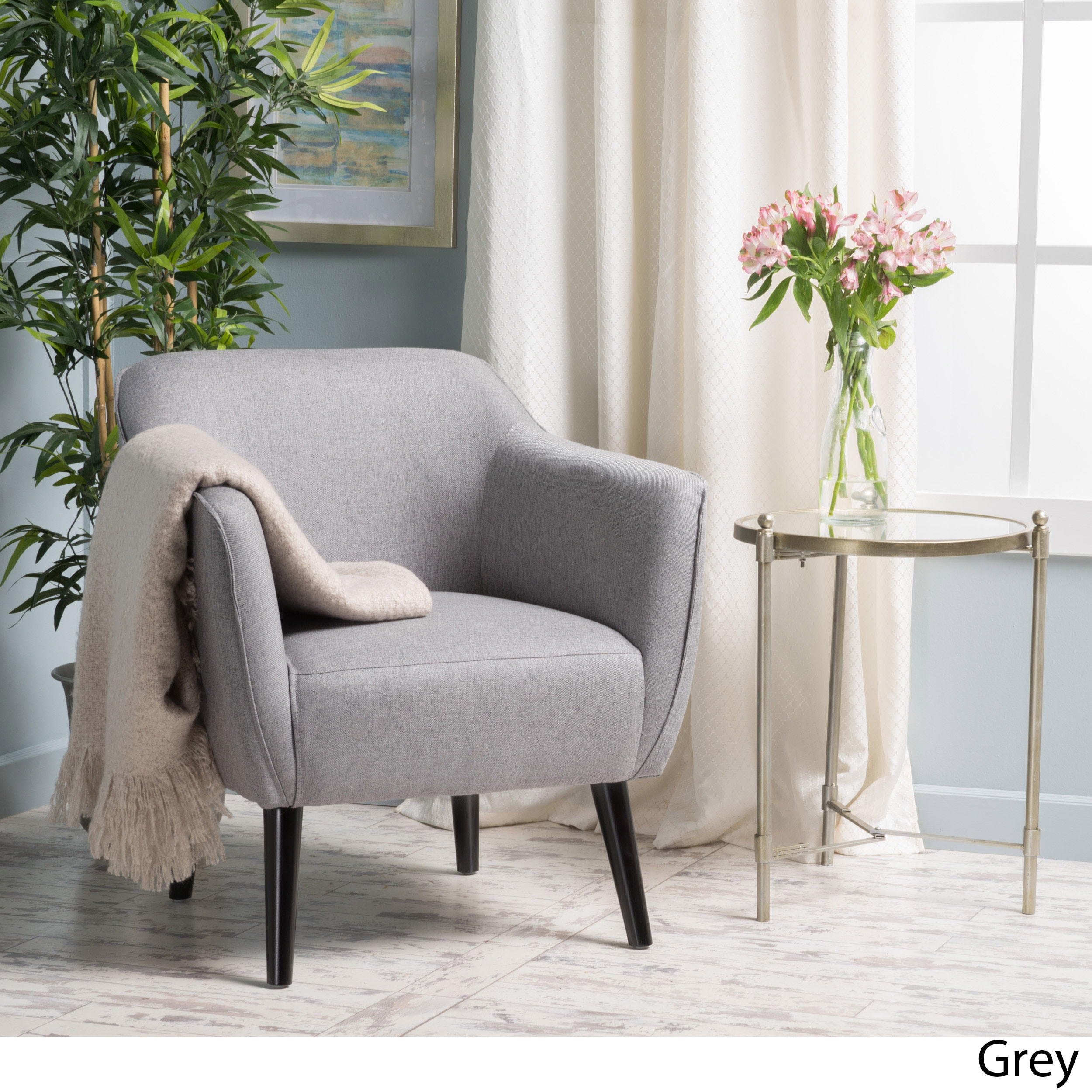 Shop Alphonse Fabric Arm Chair By Christopher Knight Home   On Sale   Free  Shipping Today   Overstock.com   14034525