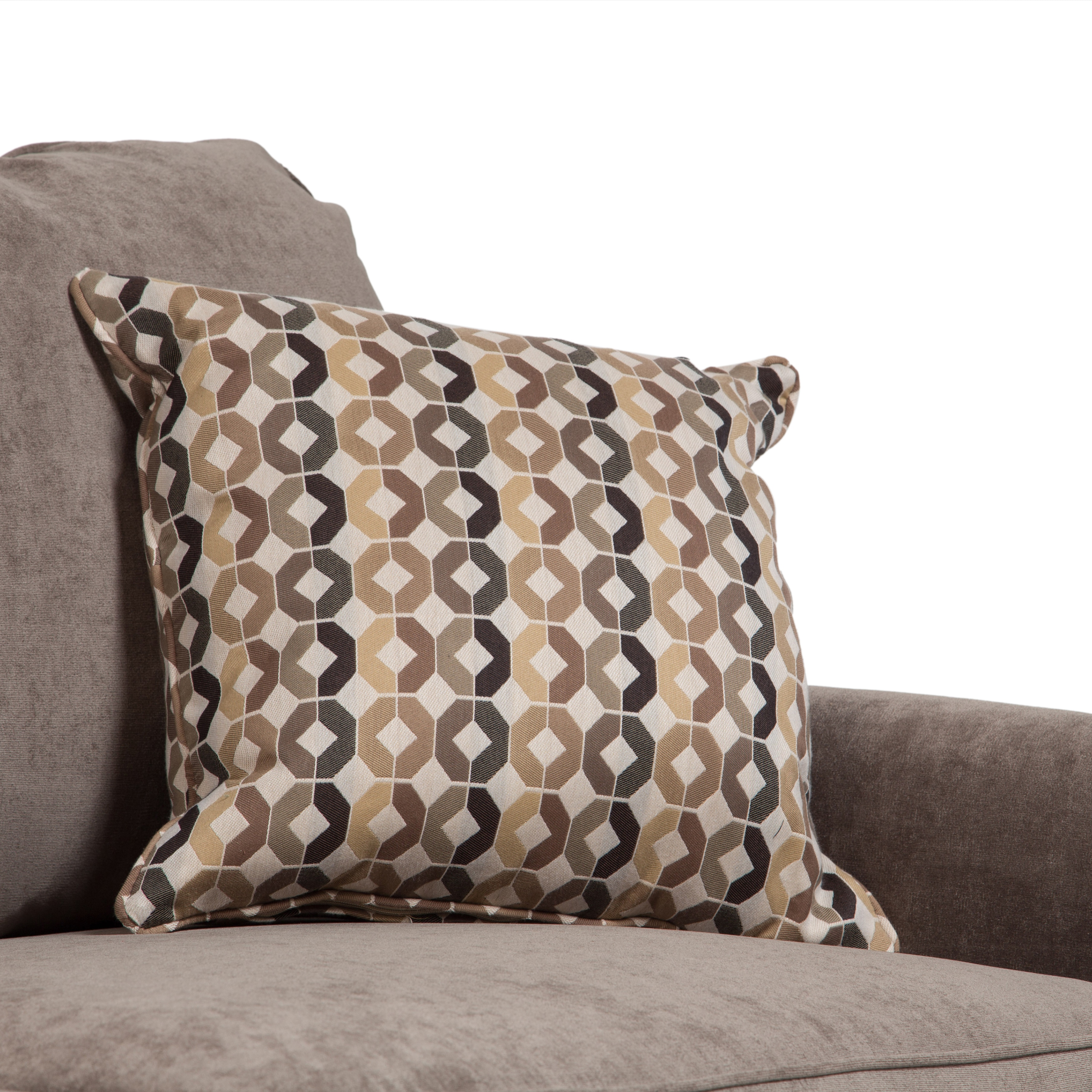 tans houndstooth pillow the home throw woven p tan pillows lane browns vesper