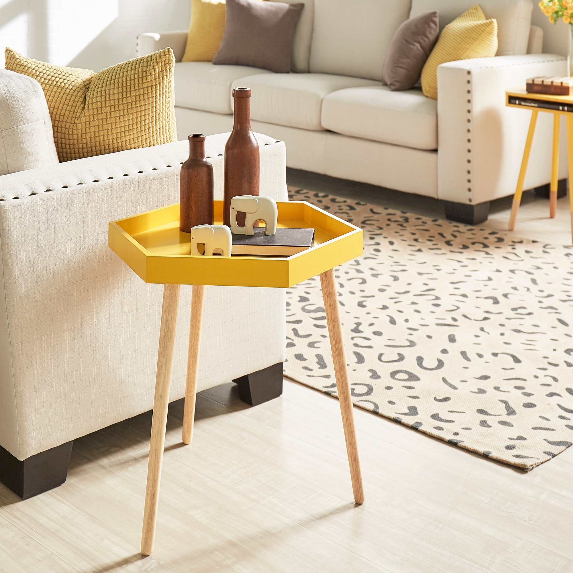 Andrena Hexagon Accent Table iNSPIRE Q Modern Free Shipping
