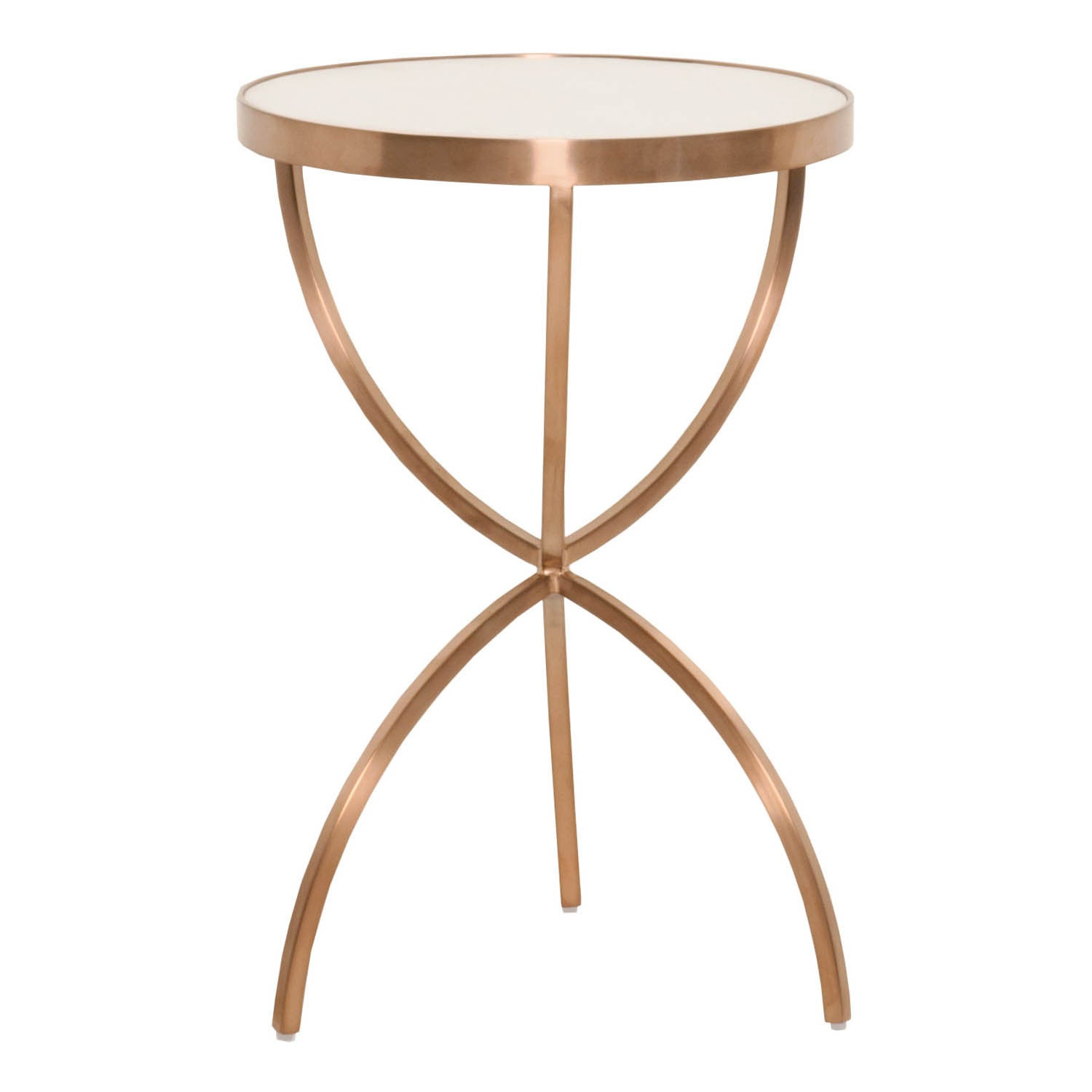 Gray Manor Mia Brushed Rose Gold Accent Table Free Shipping Today 14037845