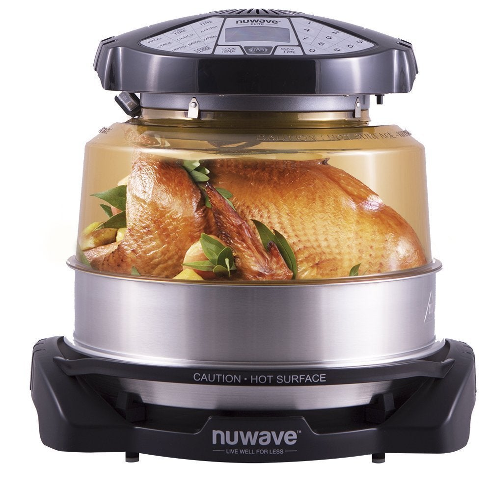 Shop NuWave Elite Oven with Extender Ring, Stainless Steel Liner and Cooking  Rack - Free Shipping Today - Overstock.com - 14038062