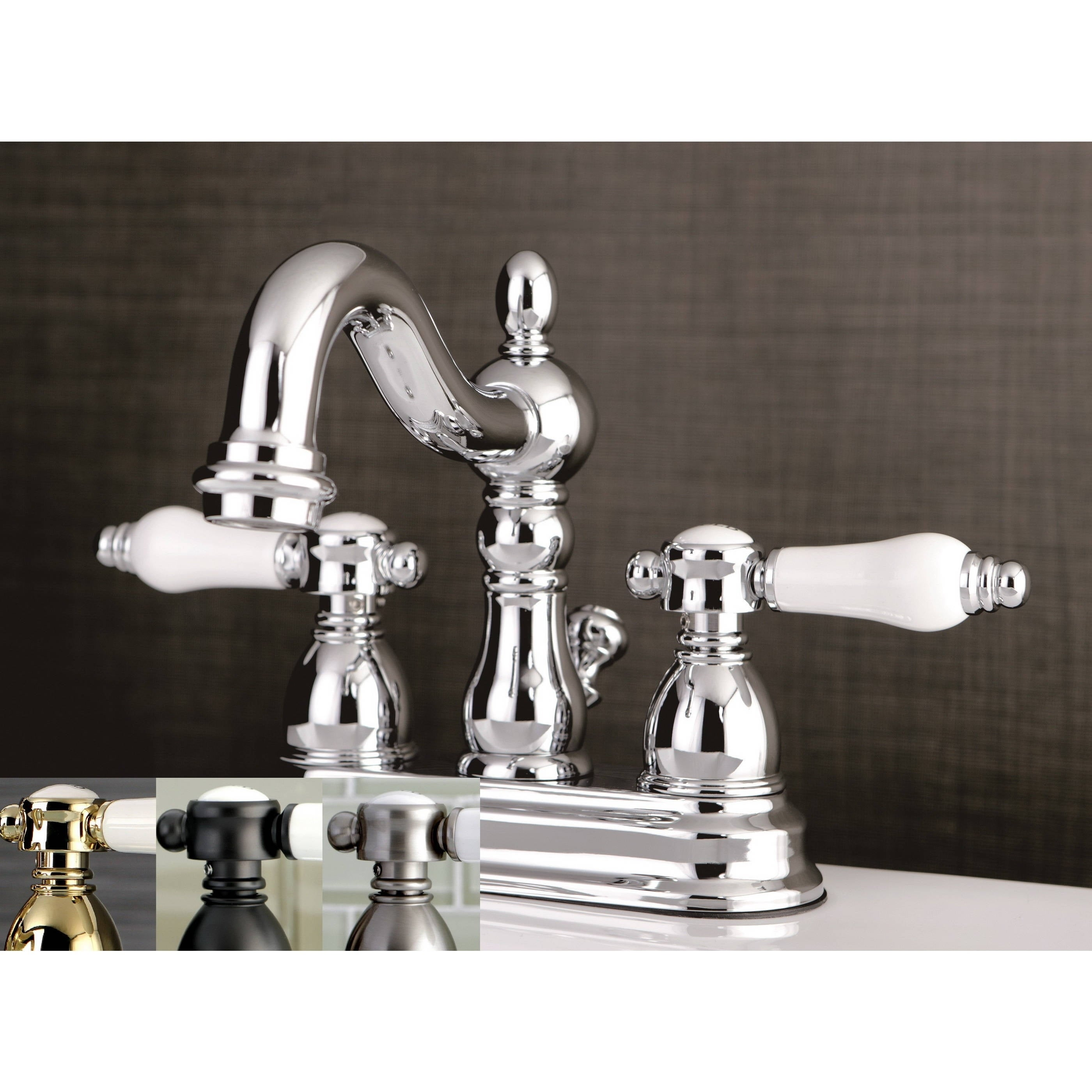Shop Victorian Porcelain Handles Bathroom Faucet - On Sale - Free ...