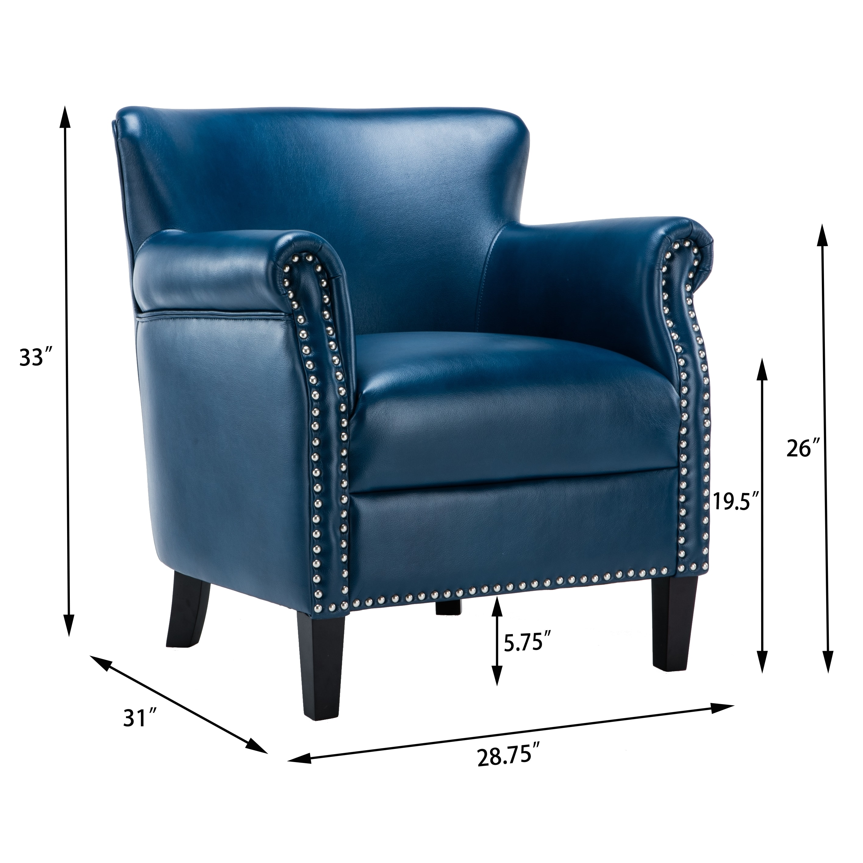 Hendrick Navy Blue Club Chair By Greyson Living Free Shipping Today 14039135