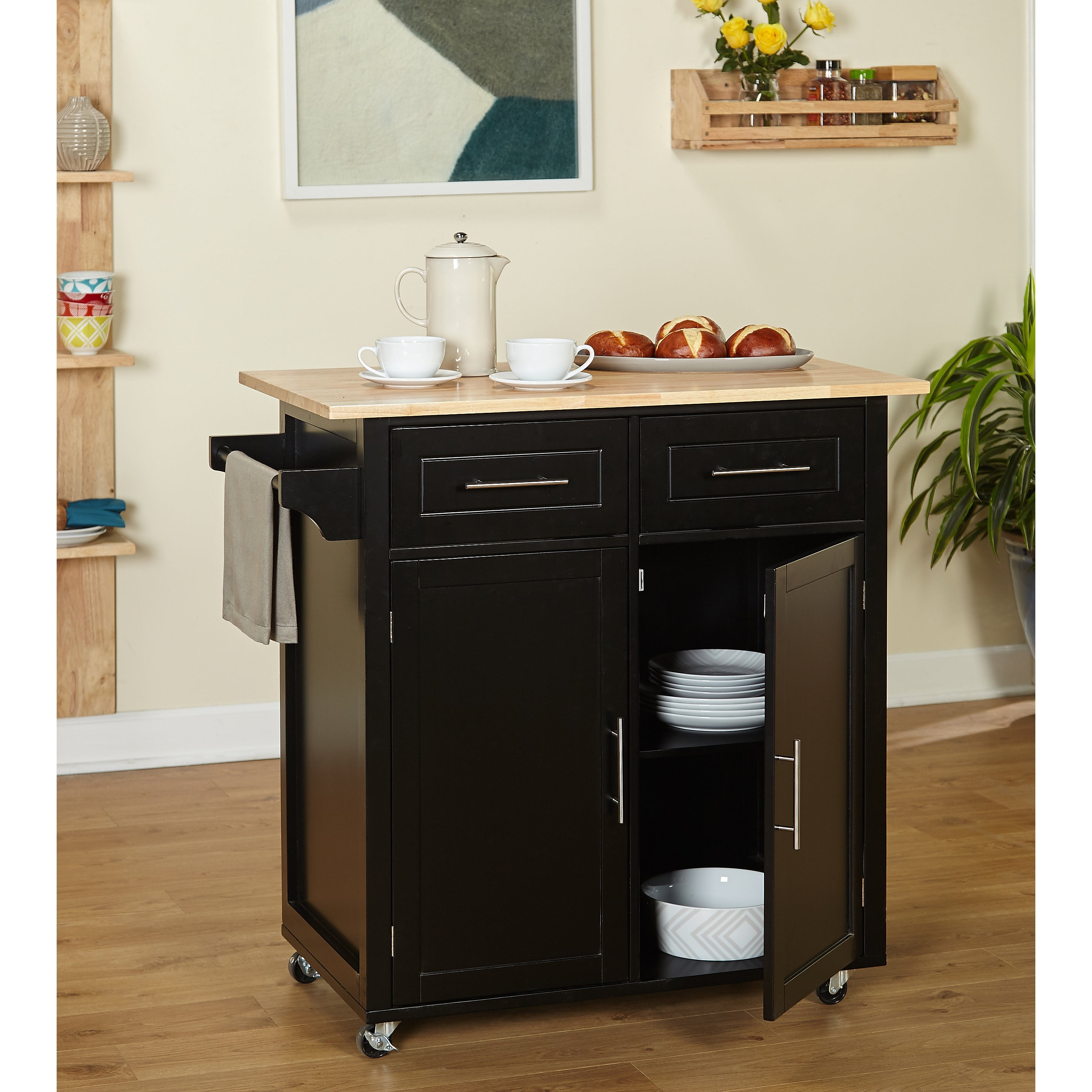Shop simple living malibu modern rolling kitchen island on sale free shipping today overstock com 14043777