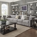 Knightsbridge Grey Extra Long Tufted Chesterfield Modular Sofa by iNSPIRE Q Artisan