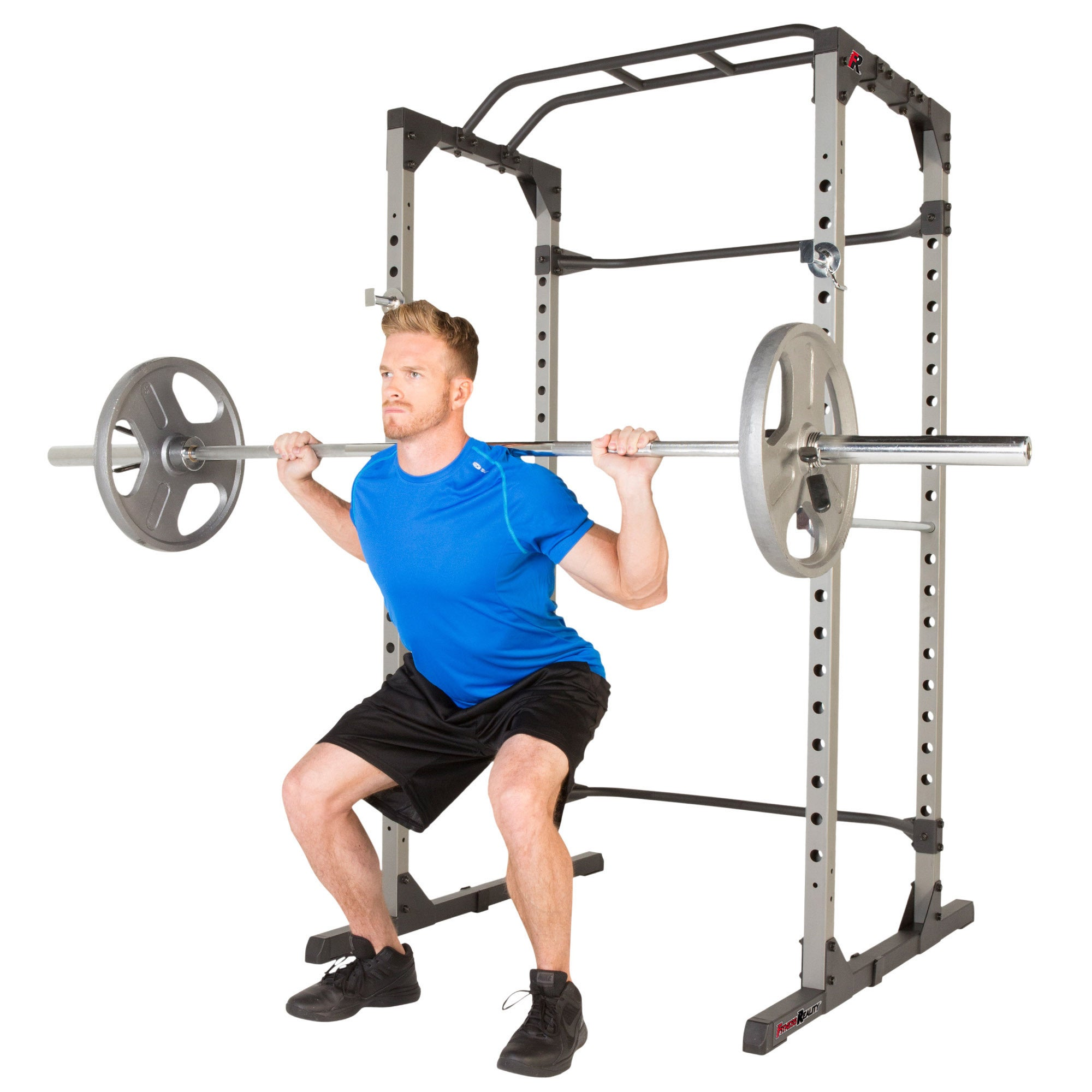 19e465b662 Shop FITNESS REALITY 810XLT Power Cage with 800lb Weight Capacity - Ships  To Canada - Overstock - 14046160