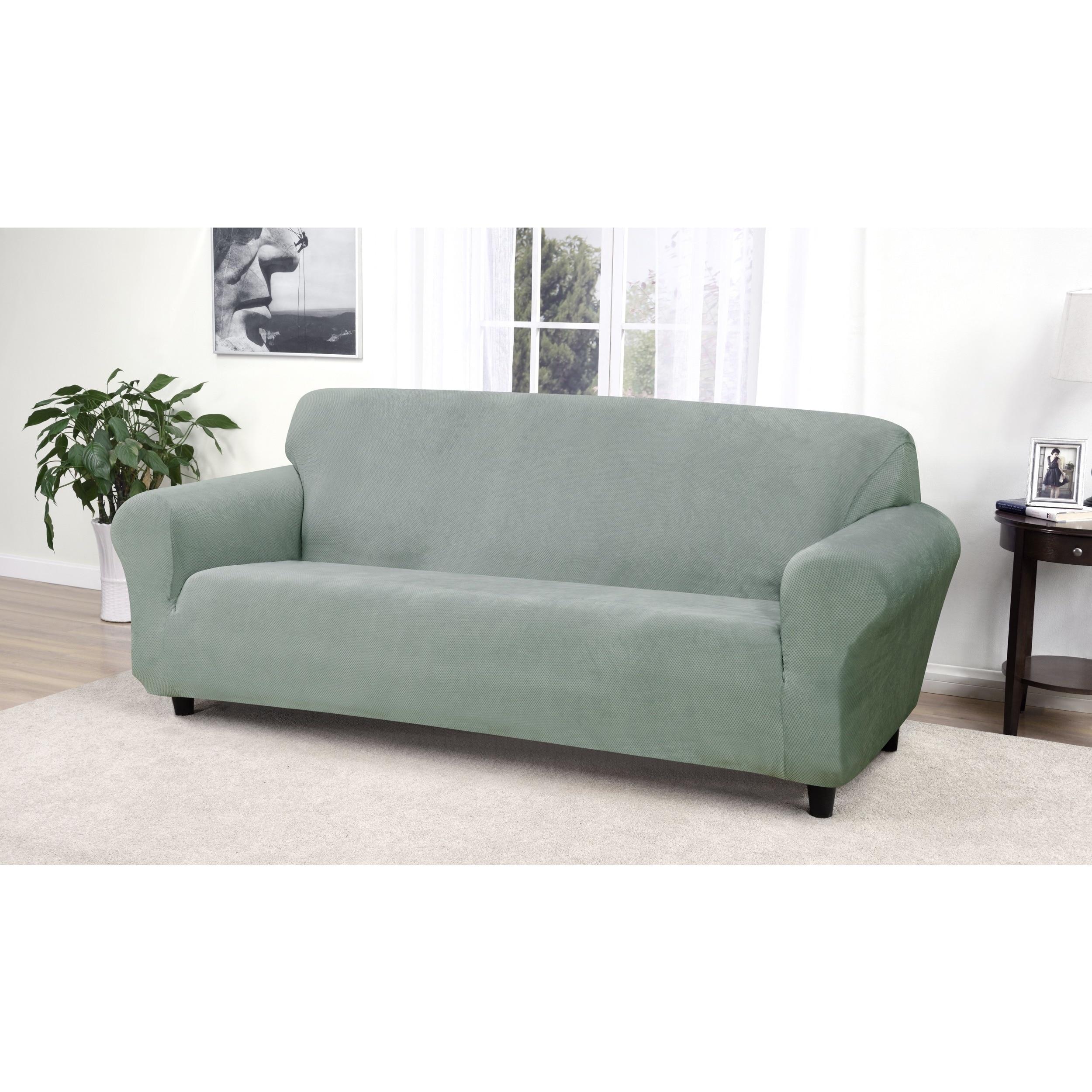 Kathy Ireland Day Break Sofa Slipcover Free Shipping Today  ~ Turquoise Slipcover Sofa