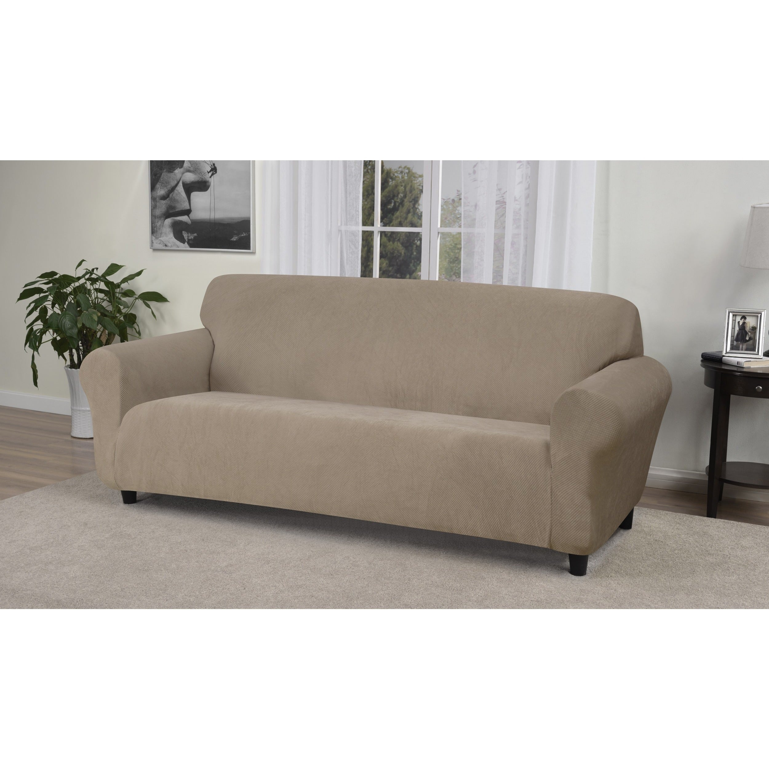 fit weathered amazon saddle com sofa sure kitchen stretch slipcover dp ultimate leather home