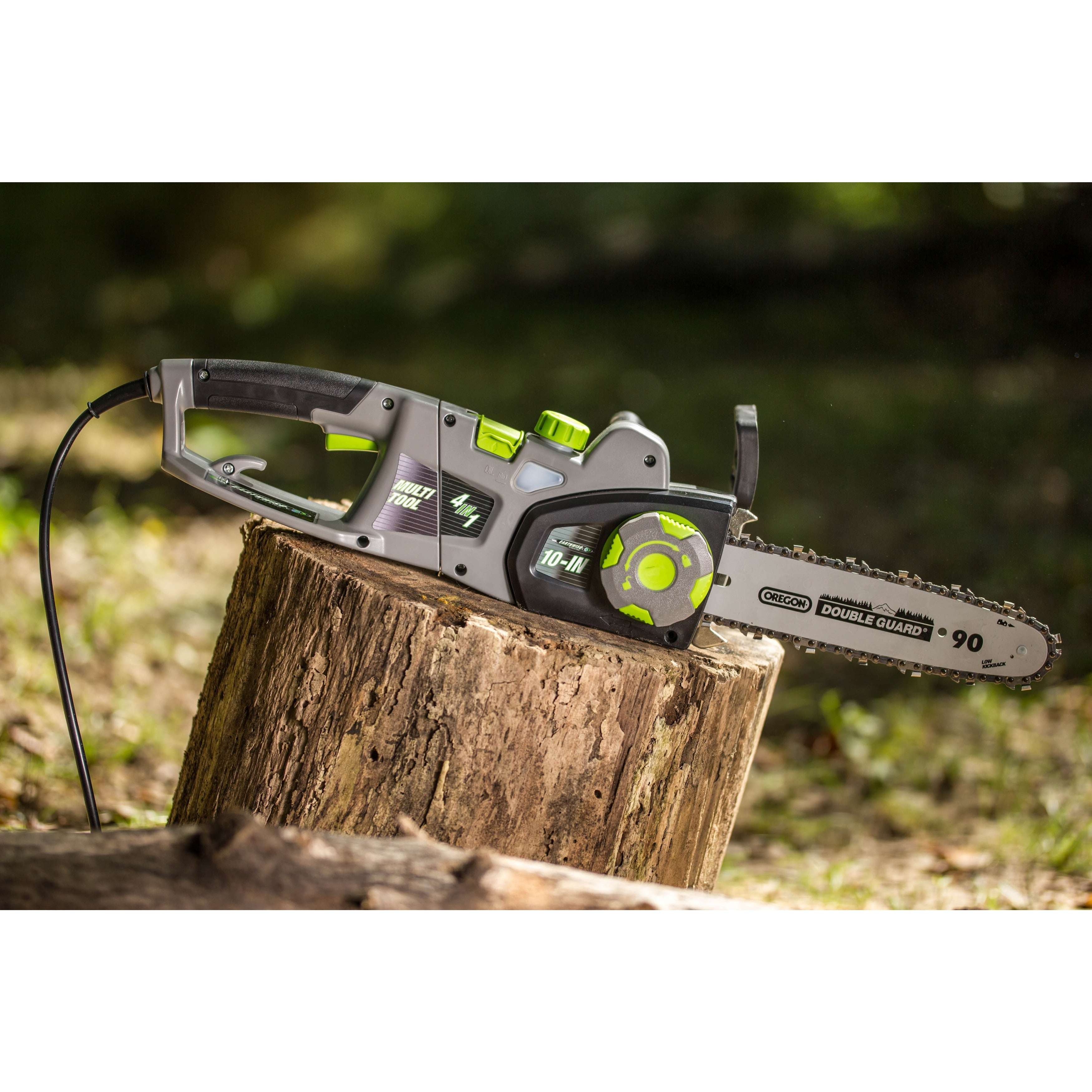 Earthwise 4 in 1 electric chainsaw with pole saw hedge trimmer earthwise 4 in 1 electric chainsaw with pole saw hedge trimmer and pole hedge trimmer free shipping today overstock 20665523 greentooth Gallery