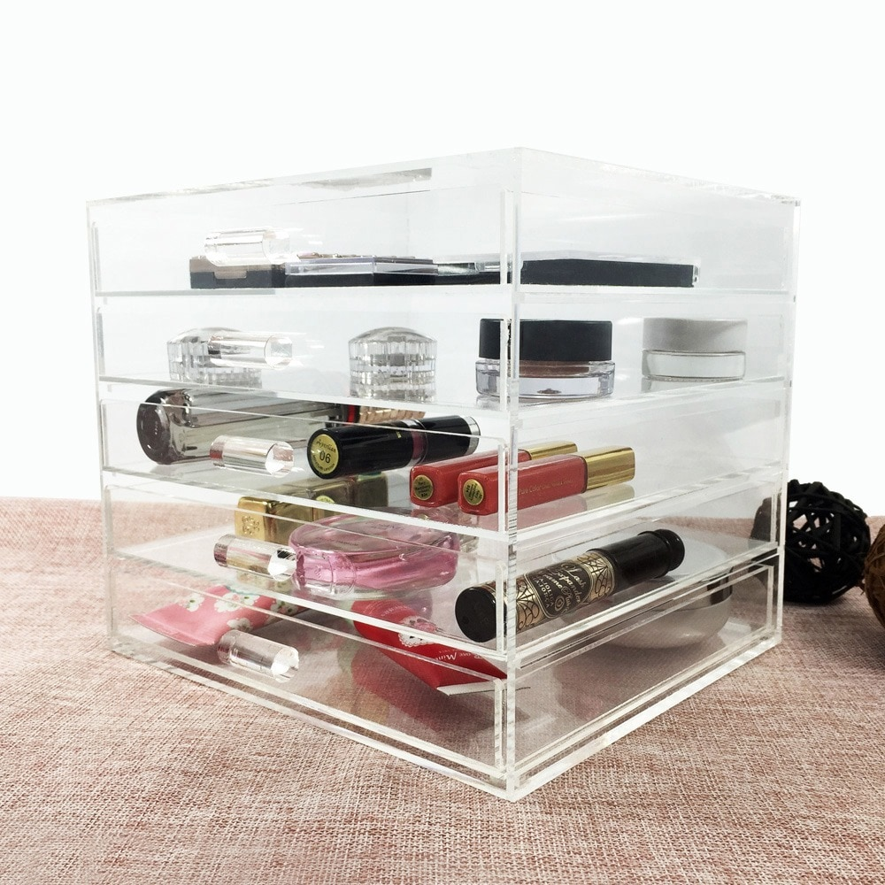 Ikee Design Acrylic 5 Drawer Cosmetic and Jewelry Organizer Free