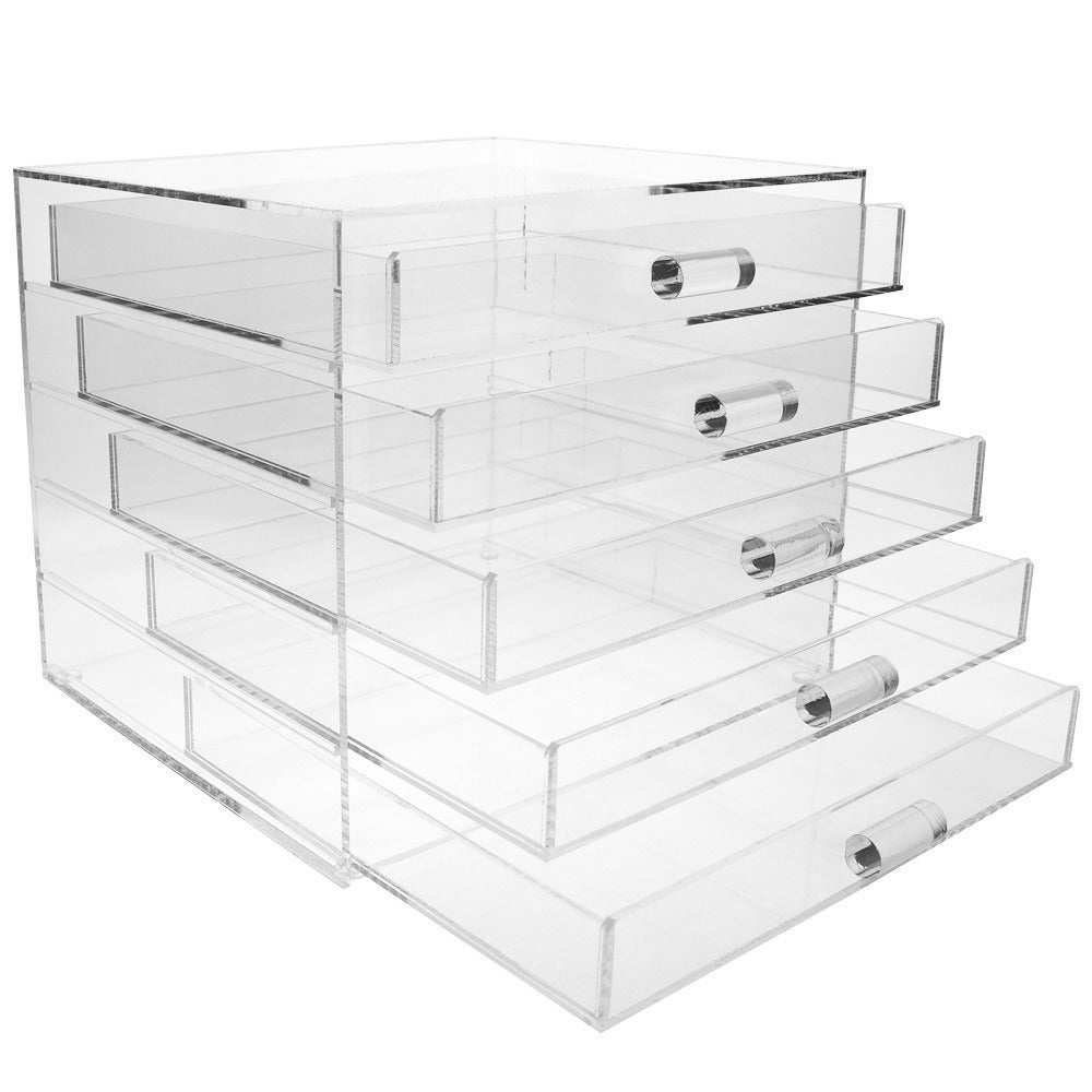 d8ff6be13f5d Ikee Design Acrylic 5 Drawer Cosmetic and Jewelry Organizer
