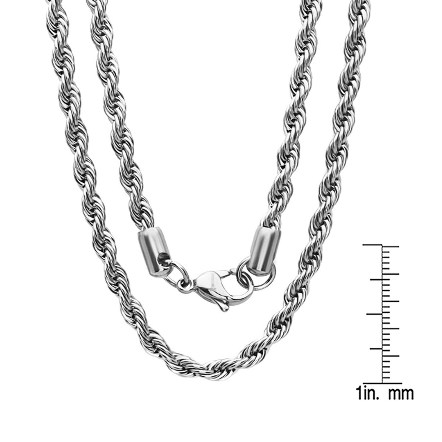 Shop Men s Thick Stainless Steel Rope Chain - On Sale - Free ... df43b08a445c