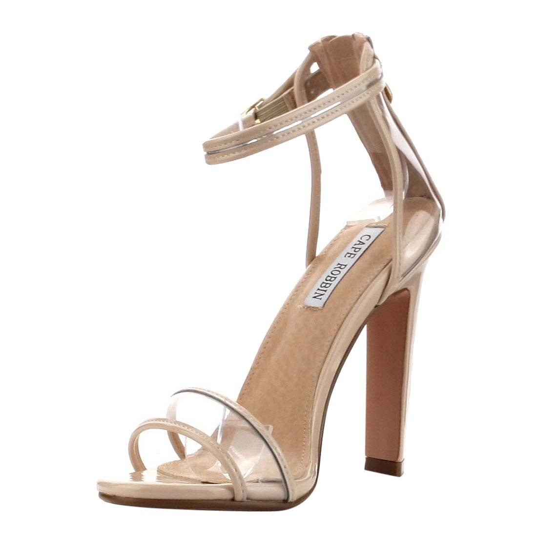 a48c7a77fe9 Shop Cape Robbin Women s FG28 Ankle-strap Single-band Block-heel Dress  Sandals - Free Shipping On Orders Over  45 - Overstock - 14054554