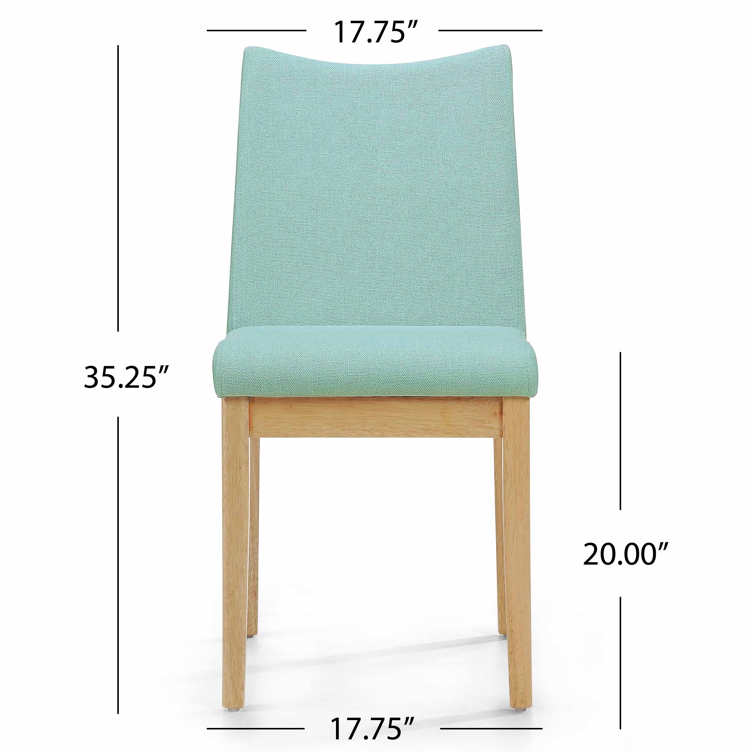 Dimitri Mid-Century Fabric Dining Chair (Set of 2) by Christopher ...