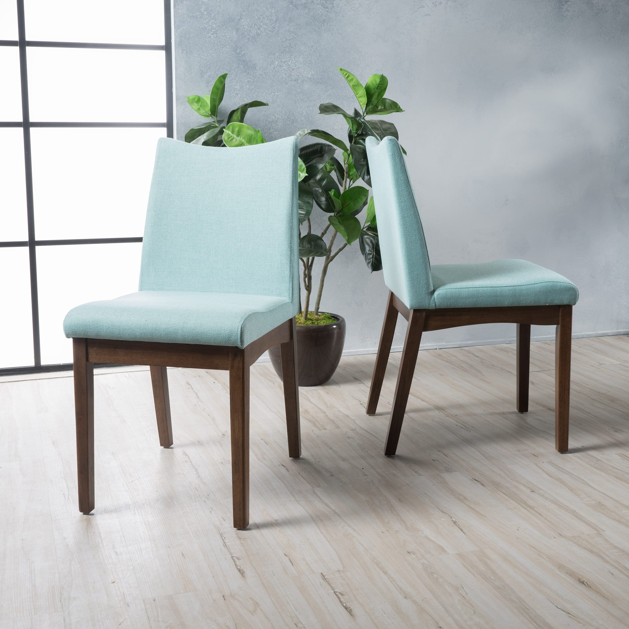Shop Dimitri Mid-Century Fabric Dining Chair (Set of 2) by ...