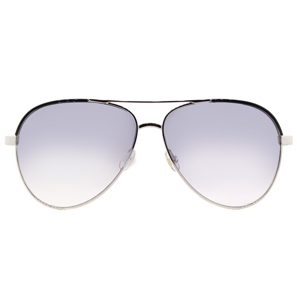 0c0431ddd8 Shop Kate Spade Women s KS Amarissa 84J Palladium Black Metal Silver Mirror  Lens Aviator Sunglasses - Free Shipping Today - Overstock - 14061343
