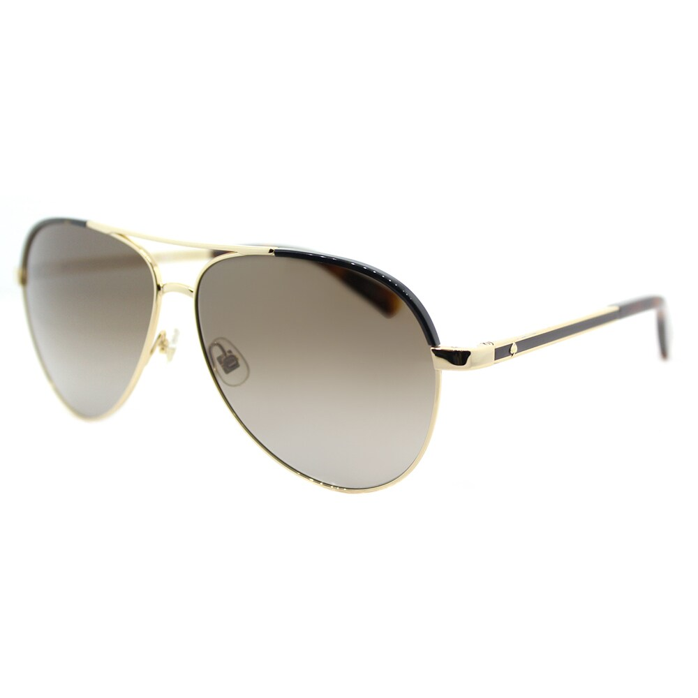 5a0a9acfb44d0 Shop Kate Spade KS Amarissa TAV Gold Havana Metal Aviator Sunglasses - Free  Shipping Today - Overstock - 14061349