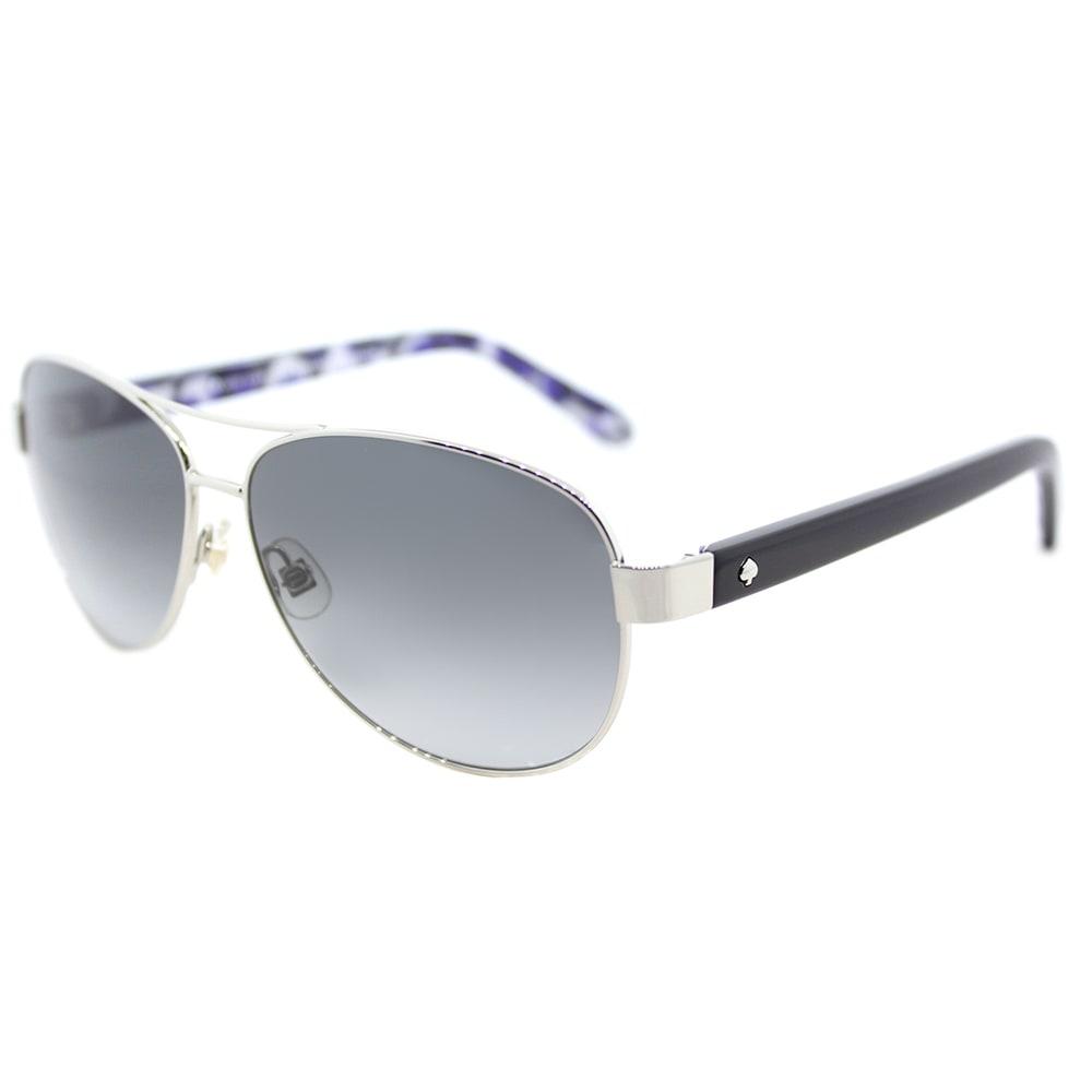 12f6e9ce2b Shop Kate Spade Dalia2 Silvertone Metal Aviator Sunglasses with Grey  Gradient Lenses - On Sale - Free Shipping Today - Overstock.com - 14061351