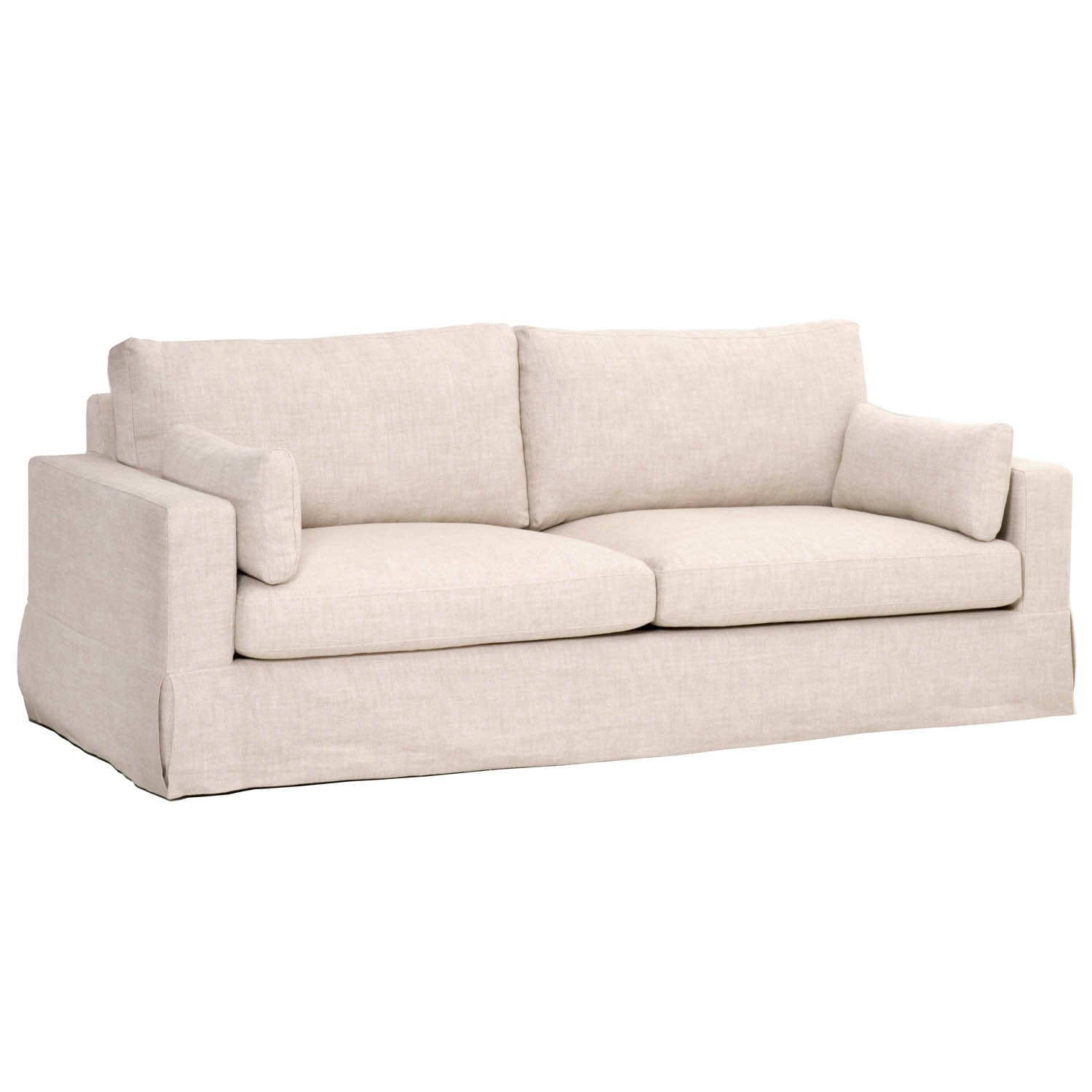 Howard 89 Sofa Bisque French Linen Free Shipping Today 14061594