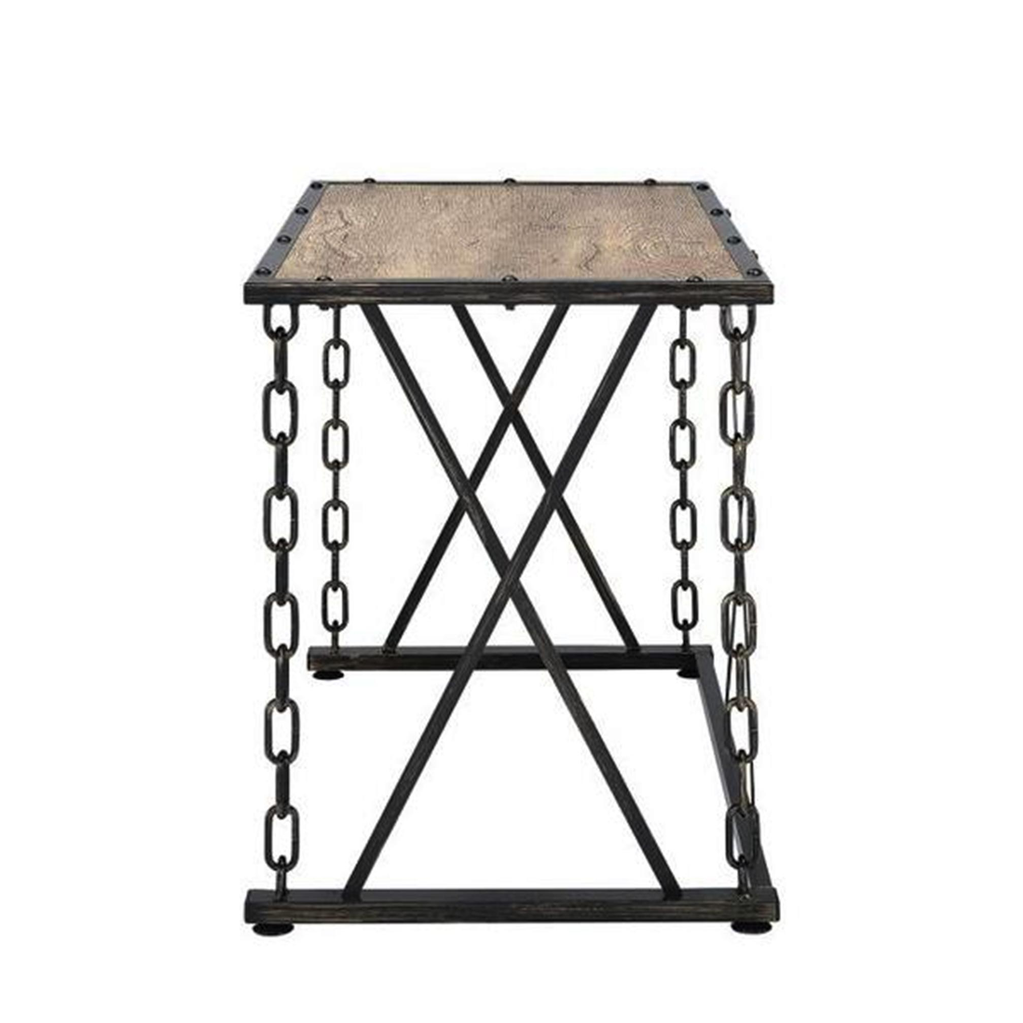 Genial Shop Industrial Distressed Rustic Finish Chain Link Design Home Office  Computer/ Writing Desk   Free Shipping Today   Overstock.com   14061599