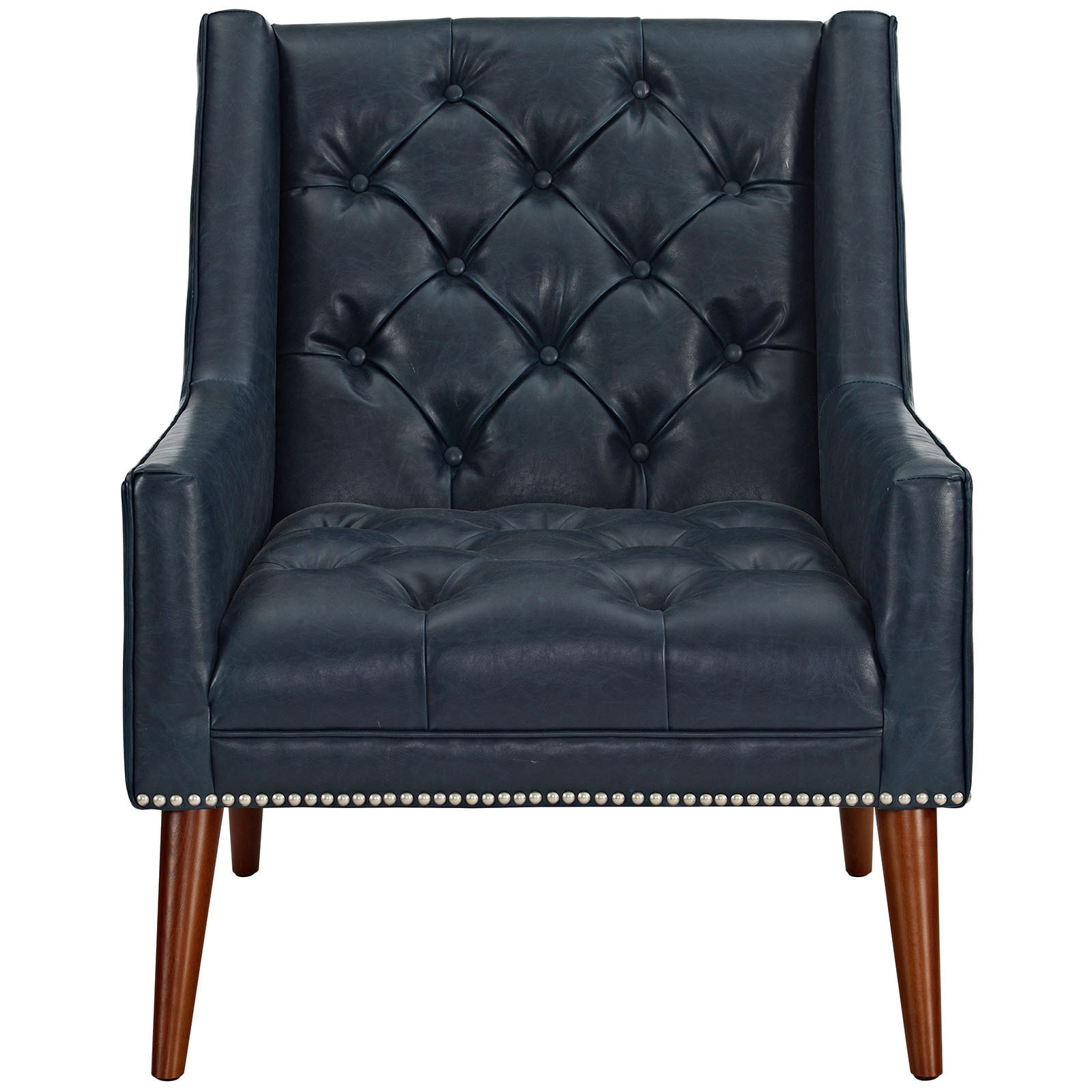 Shop Carson Carrington Lillerod Diamond Tufted Faux Leather Armchair   Free  Shipping Today   Overstock.com   14062040