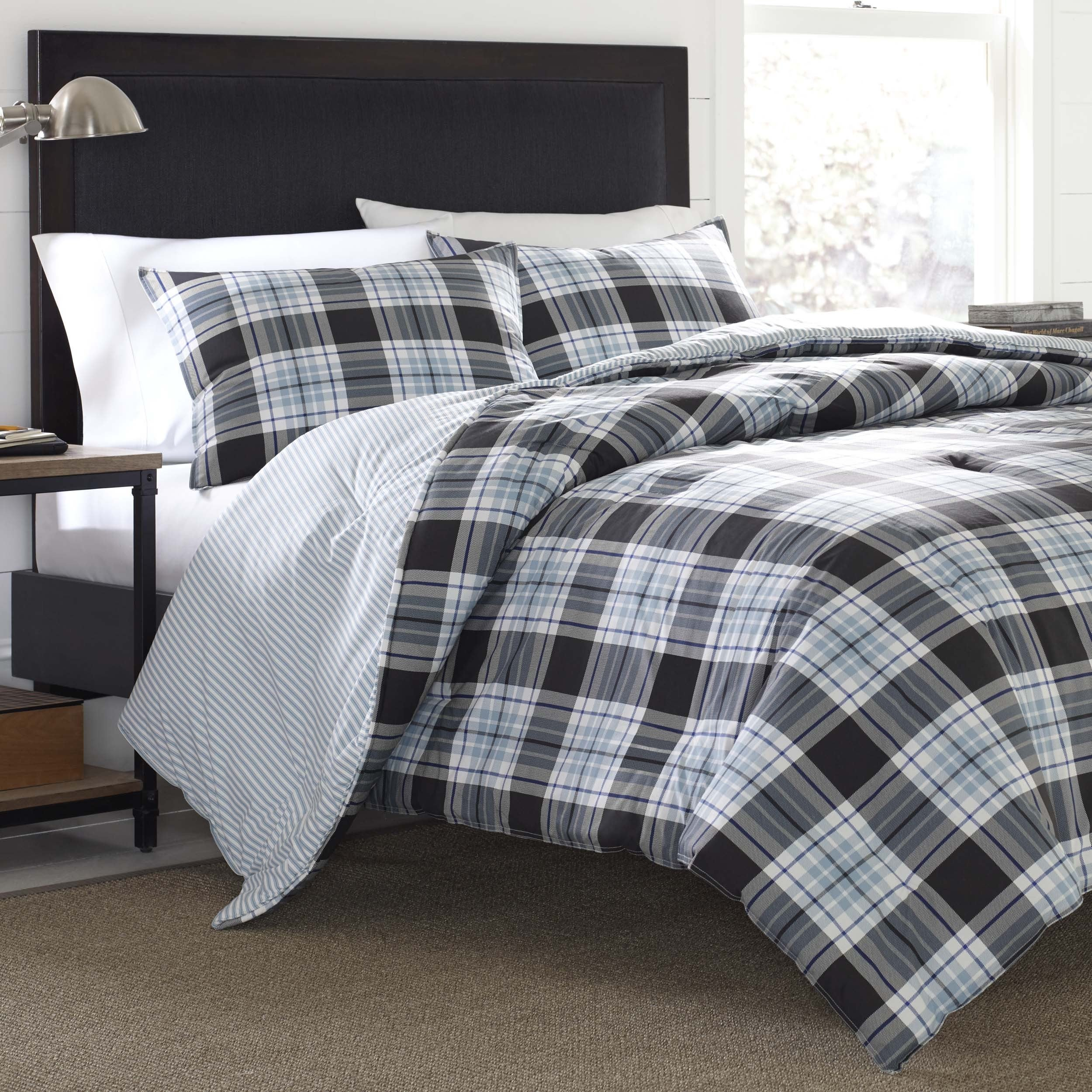 set overstock product comforter shipping today bedding bath plaid alder free bauer eddie