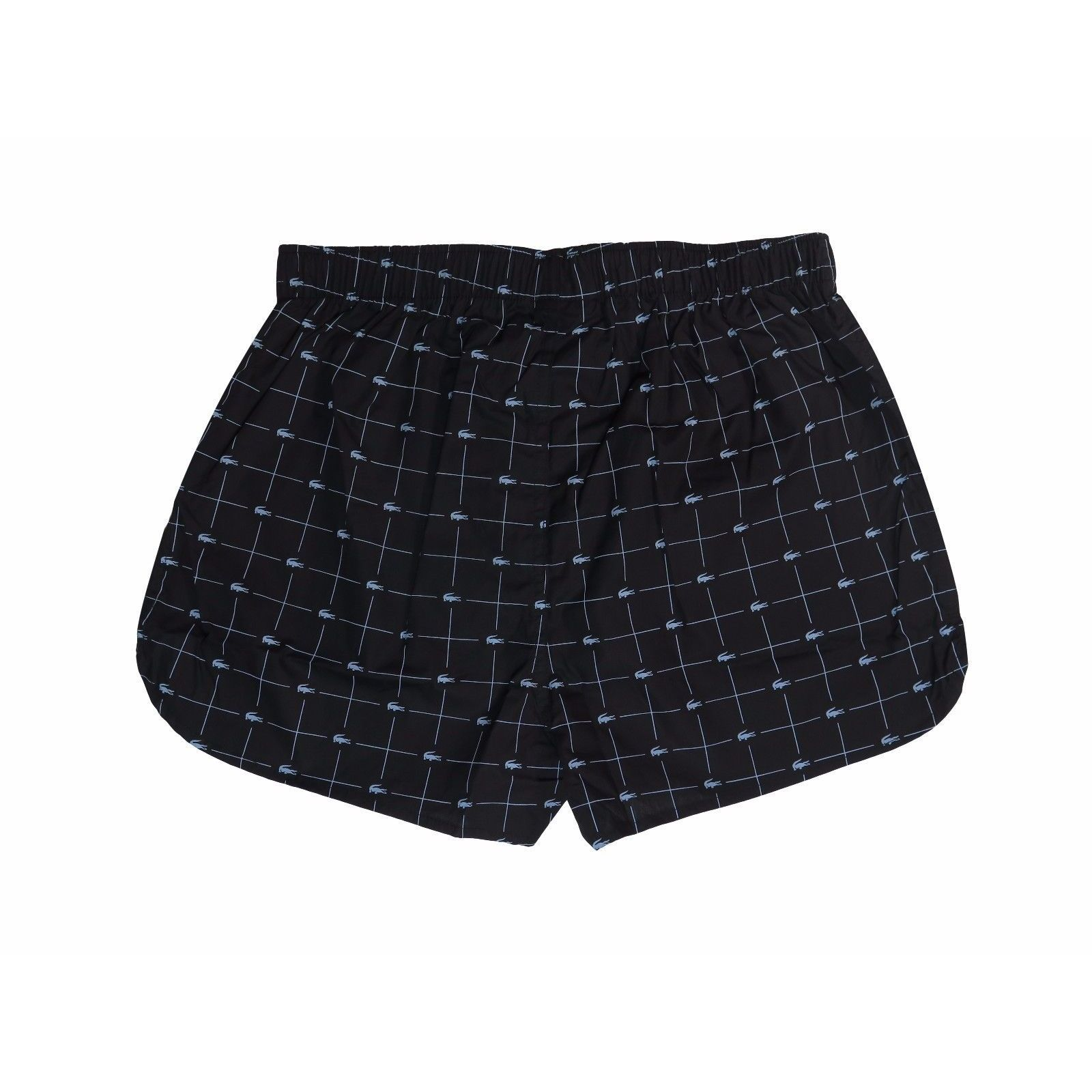 830fb7f69725 Shop Lacoste Men s Black Woven Croc-print Boxer - Free Shipping On Orders  Over  45 - Overstock - 14063243