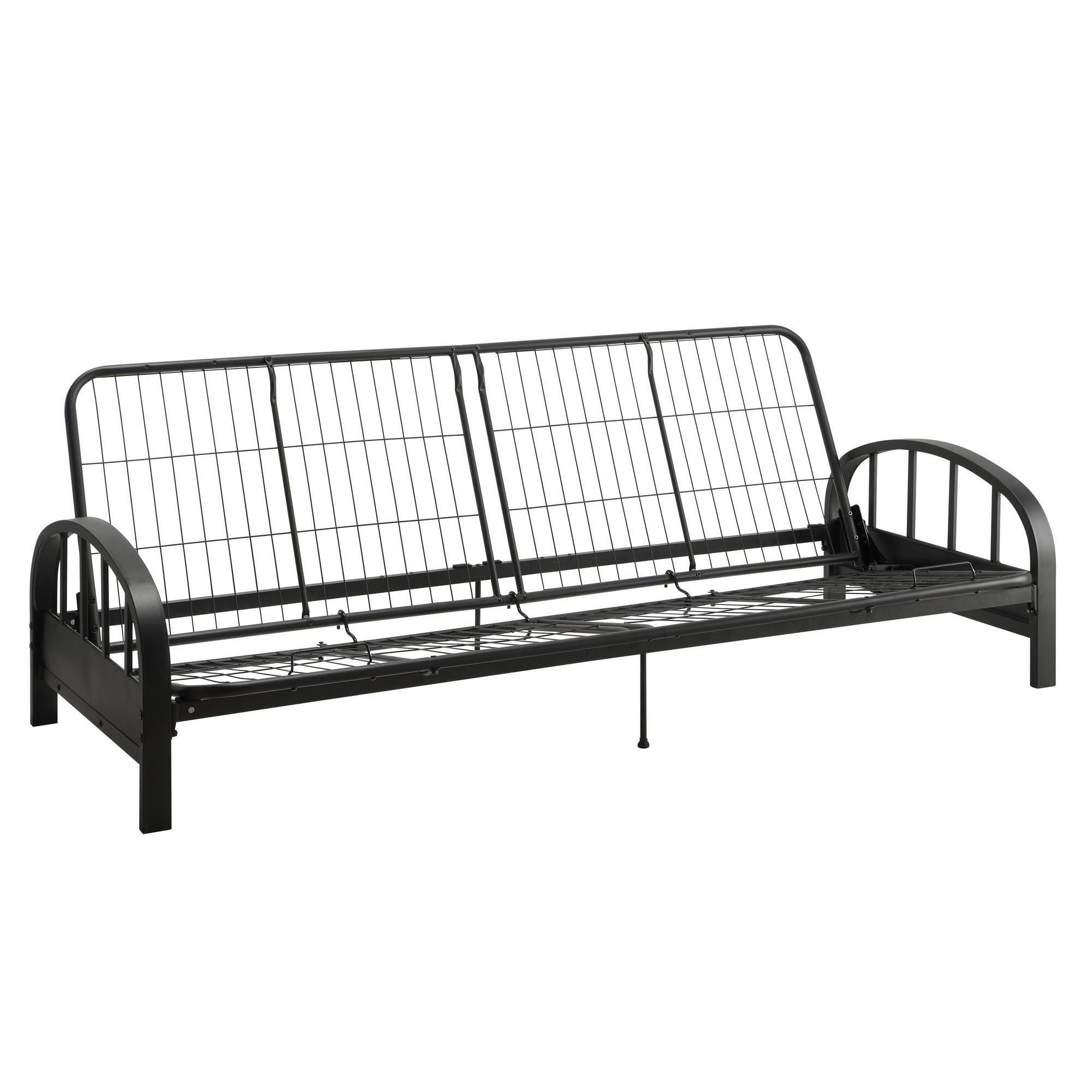 with metal mattress futon futons choice wood frame multiple quot encased coil co arm colors black dhp nadine independently
