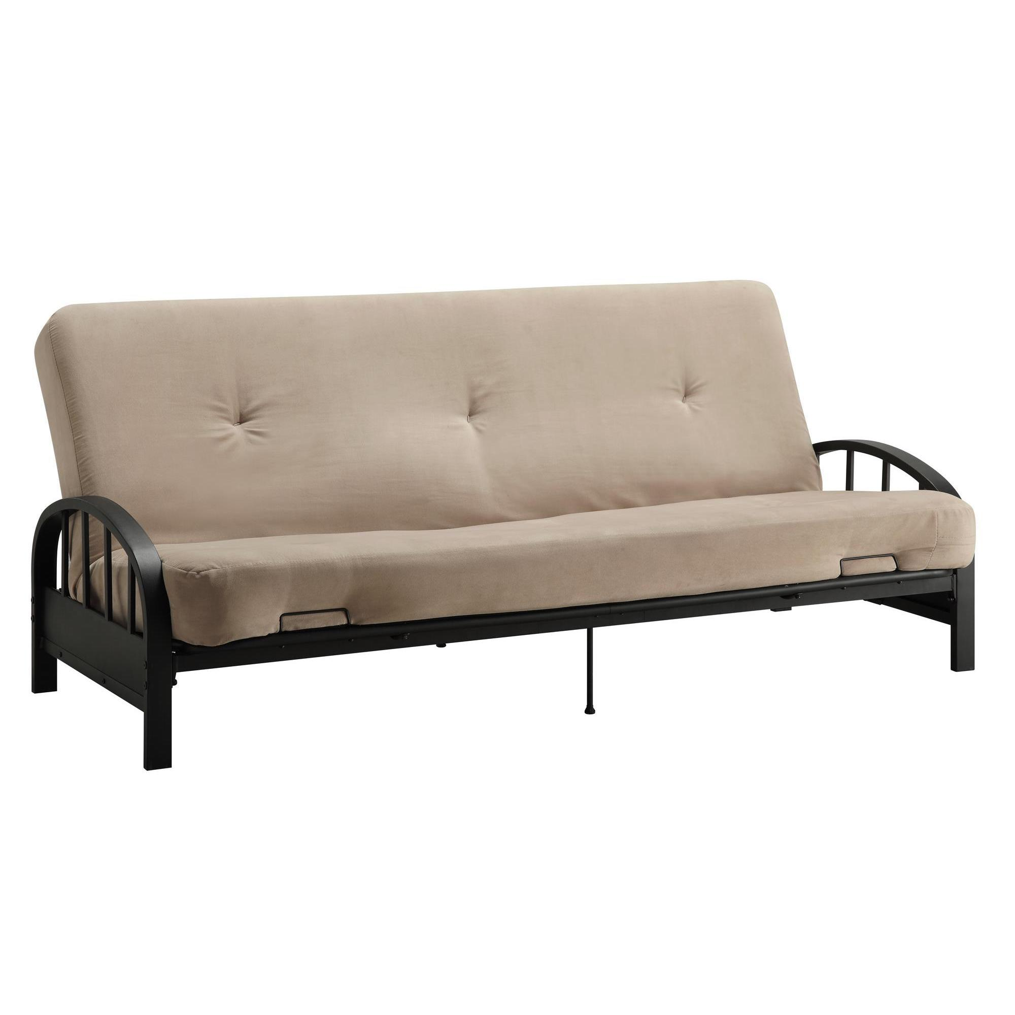 watson home futons frame black wid with prod p essential arm metal futon qlt microfiber hei