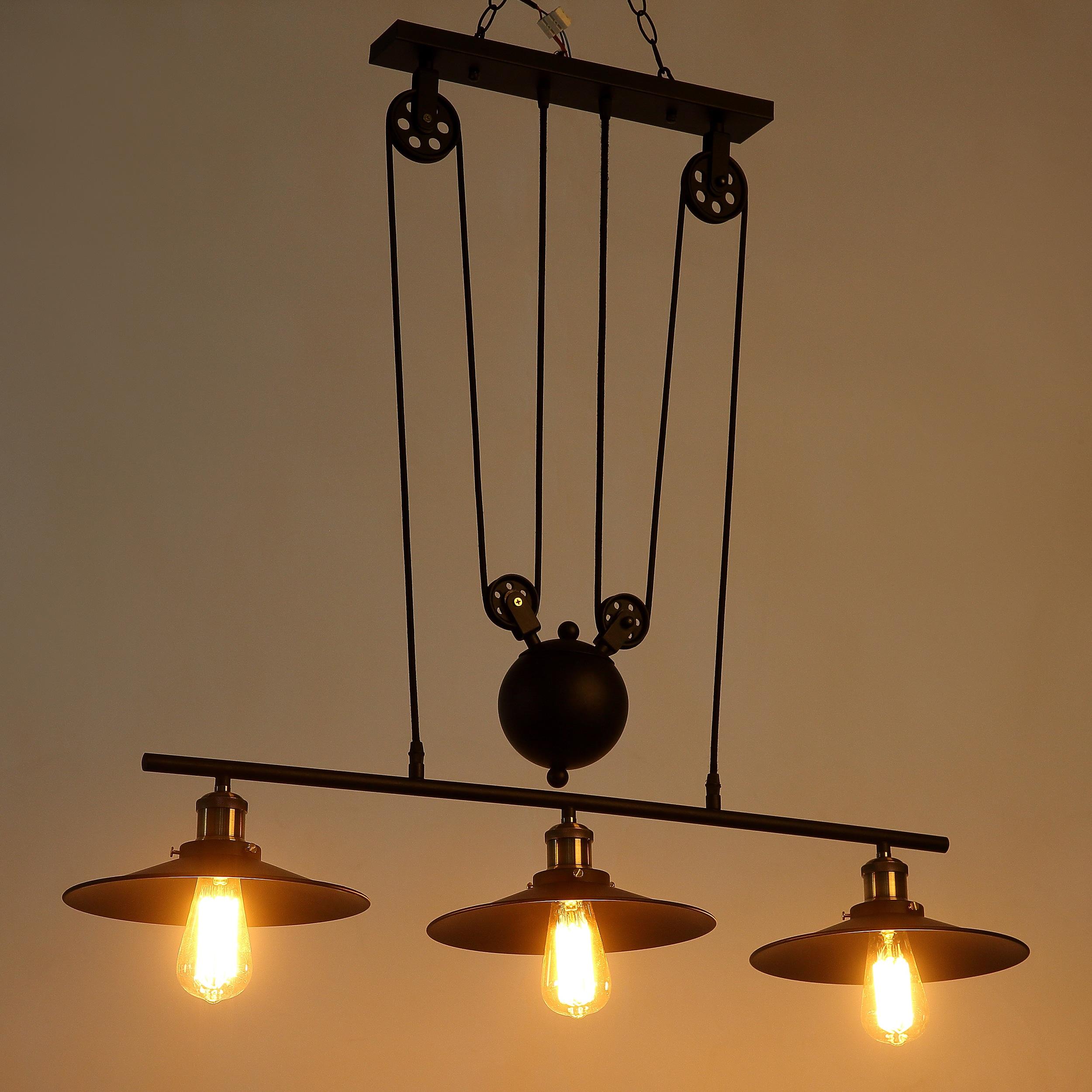 journee lighting. Journee Home \u0027Alexandrine\u0027 Pulley Hard Wired Island Pendant Light With 3 Included Edison Bulbs - Free Shipping Today Overstock 20677163 Lighting D