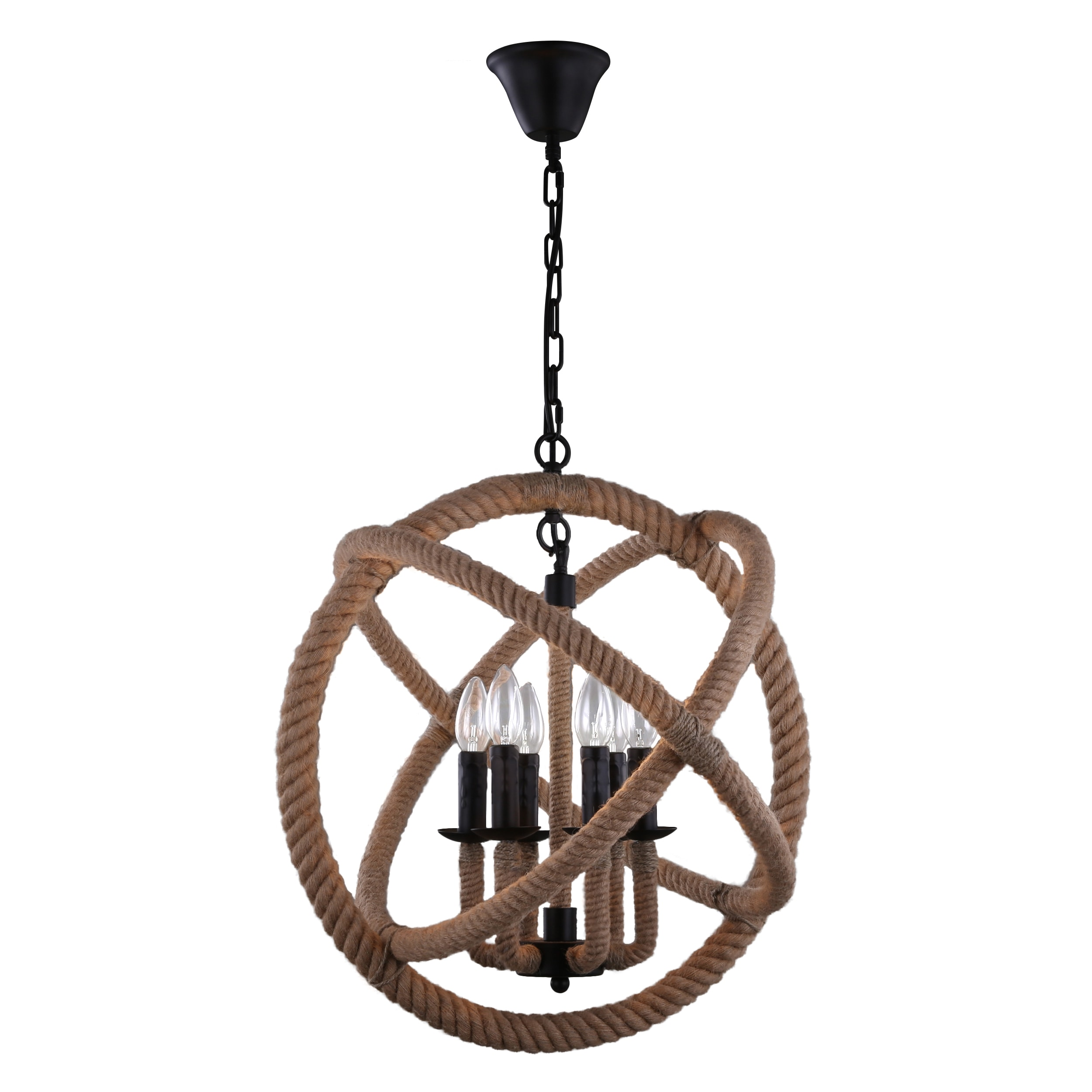 Journee Home Ouija 14 In Hard Wired Hemp Rope Orb Pendant Light With Included Edison Bulb Free Today Com 14064340