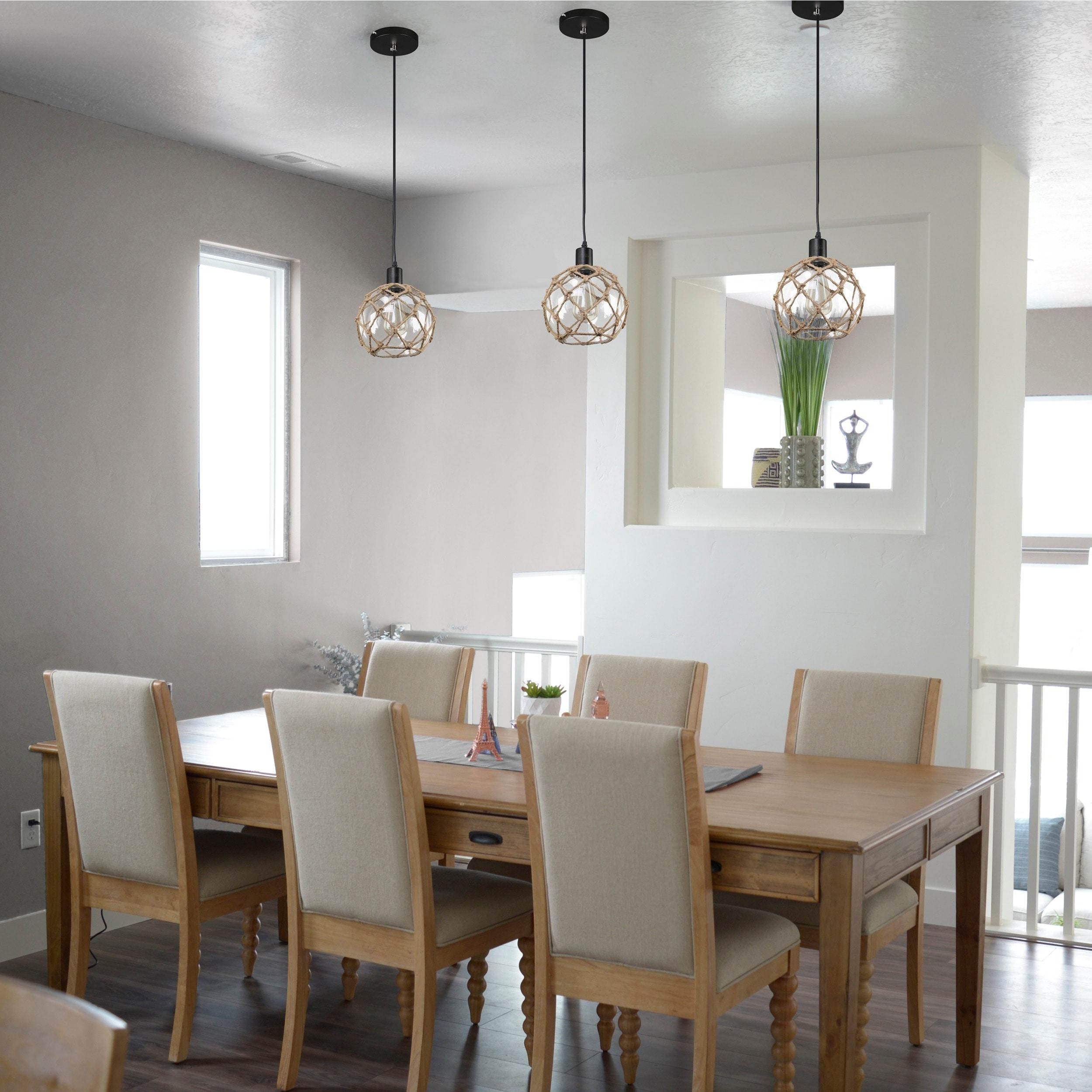 journee lighting. Journee Home \u0027Nura\u0027 8 In Hard Wired Glass Hemp Net Pendant Light - Free Shipping Today Overstock 20677831 Lighting O
