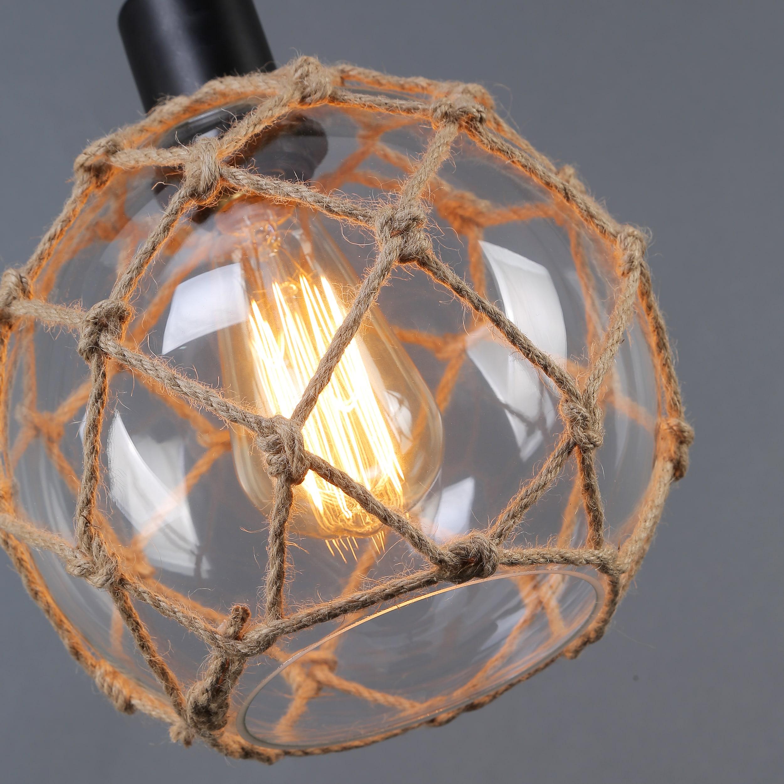 journee lighting. Journee Home \u0027Nura\u0027 8 In Hard Wired Glass Hemp Net Pendant Light - Free Shipping Today Overstock 20677831 Lighting L