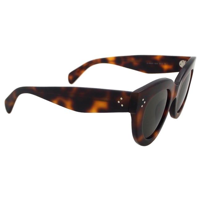 7591ef877f2d1 Shop Celine Women s CL 41050 S 05L1E - Havana Sunglasses - Free Shipping  Today - Overstock - 14065705